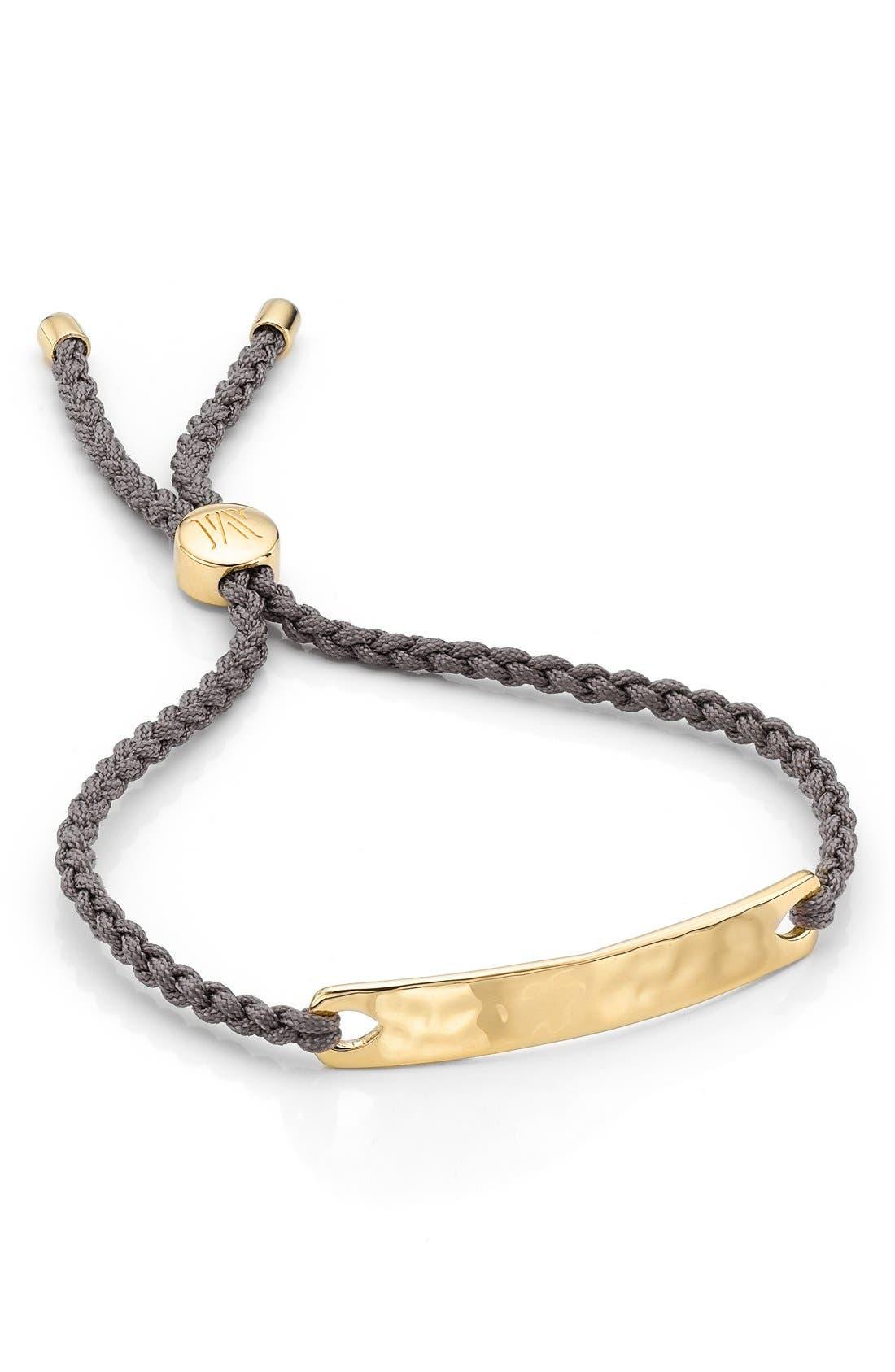 Engravable HavanaFriendship Bracelet,                             Main thumbnail 1, color,                             YELLOW GOLD/ MINK