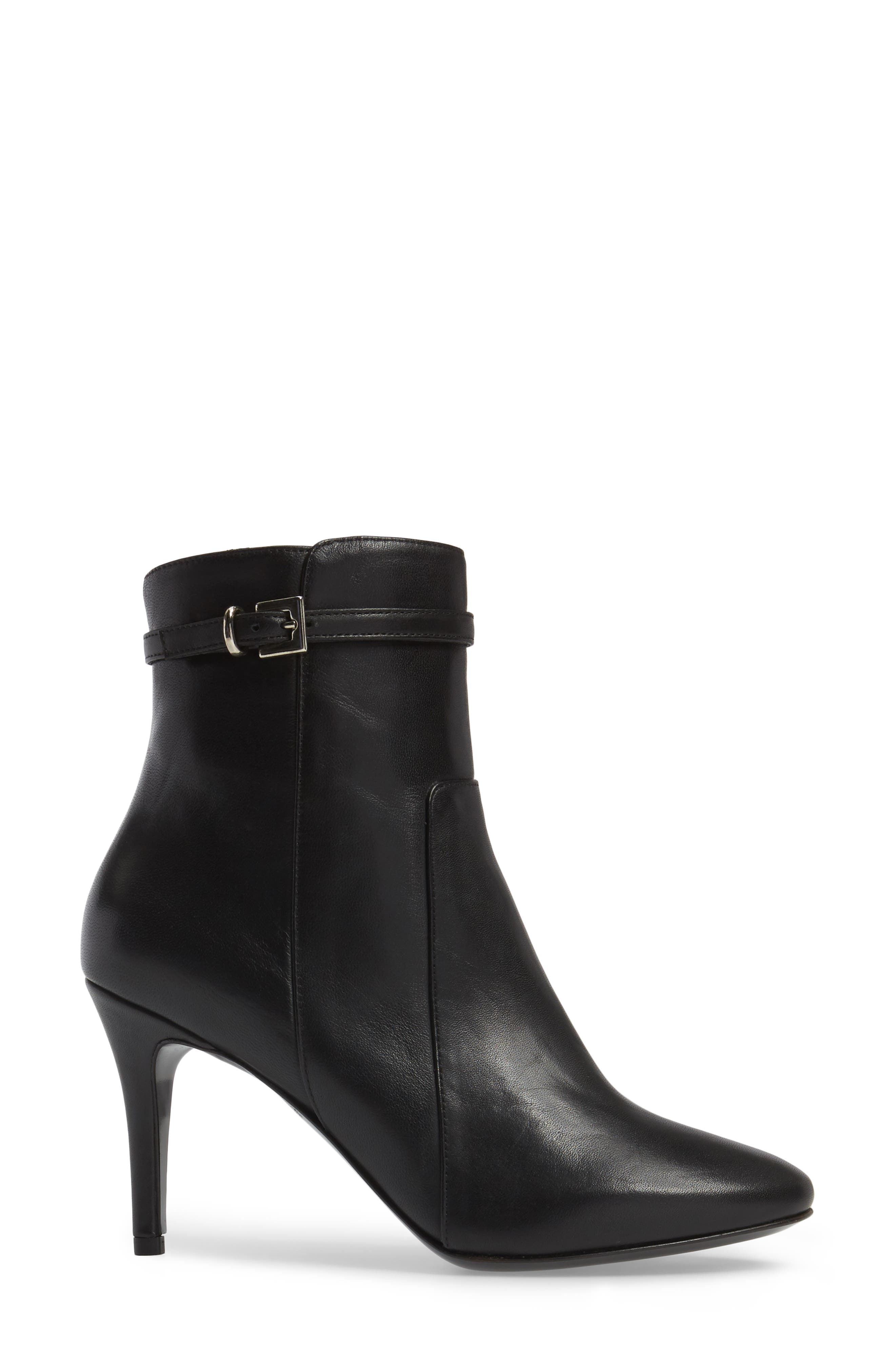 Prism Buckle Strap Bootie,                             Alternate thumbnail 3, color,                             001