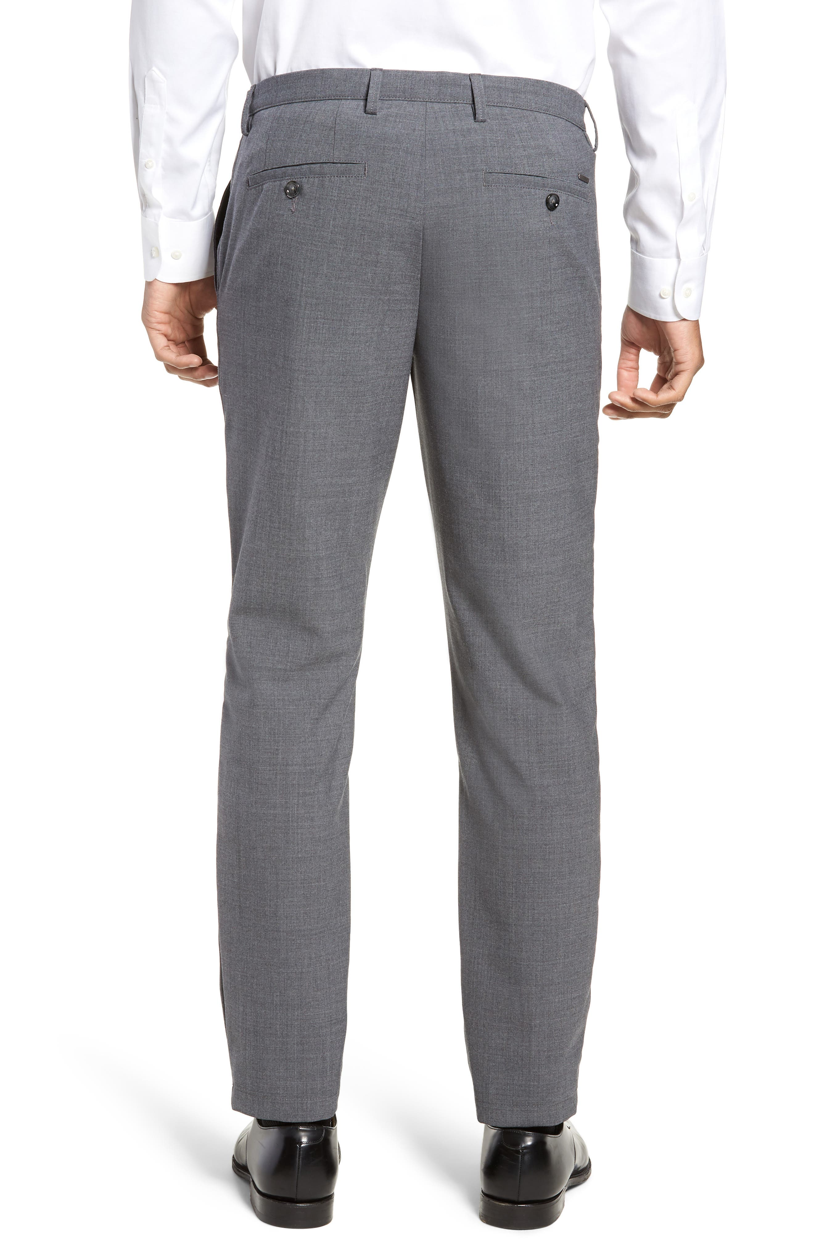 Kaito Slim Fit Wool Trousers,                             Alternate thumbnail 2, color,                             GREY