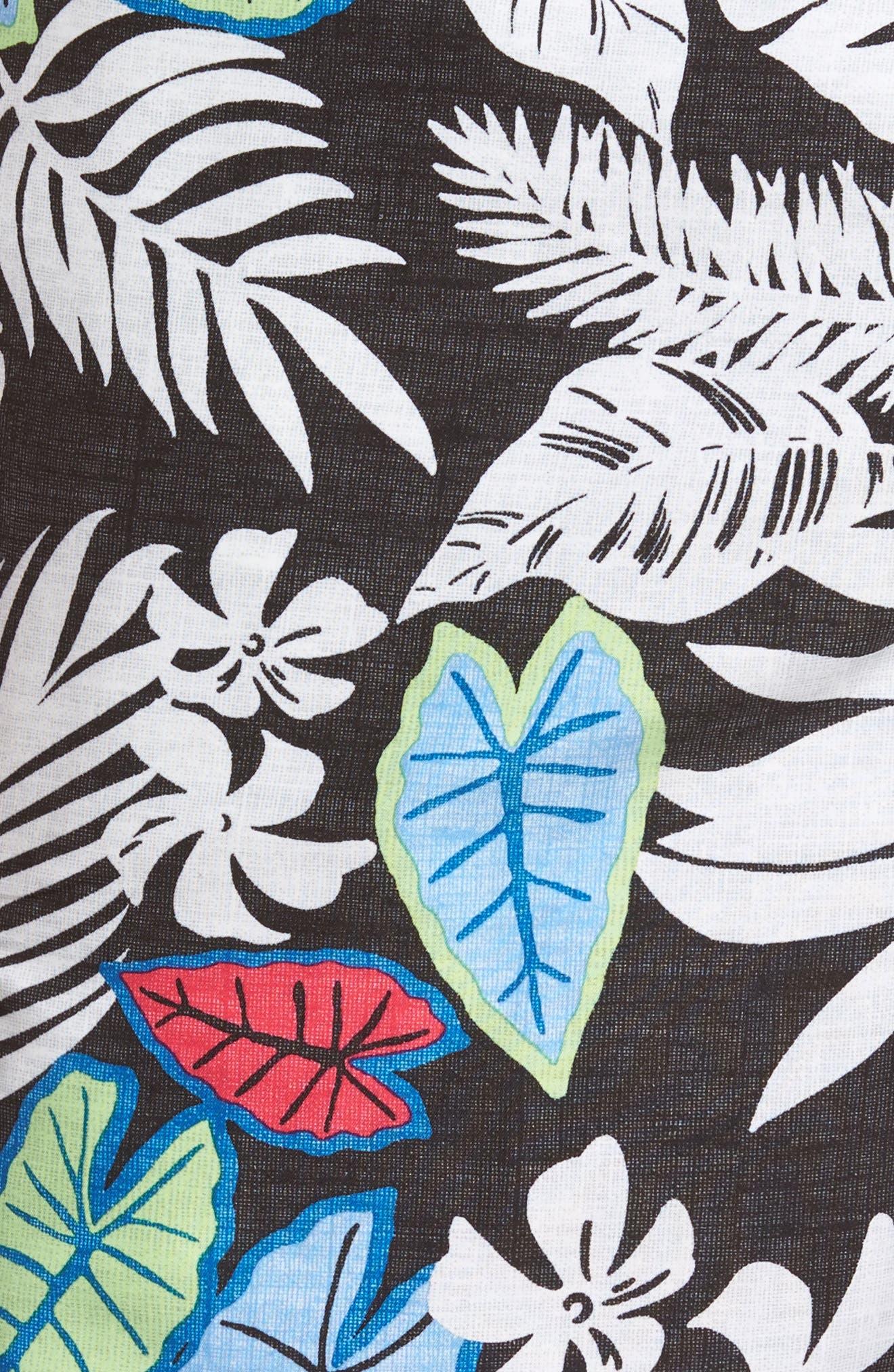 Baja Luau Leaves Board Shorts,                             Alternate thumbnail 5, color,                             001