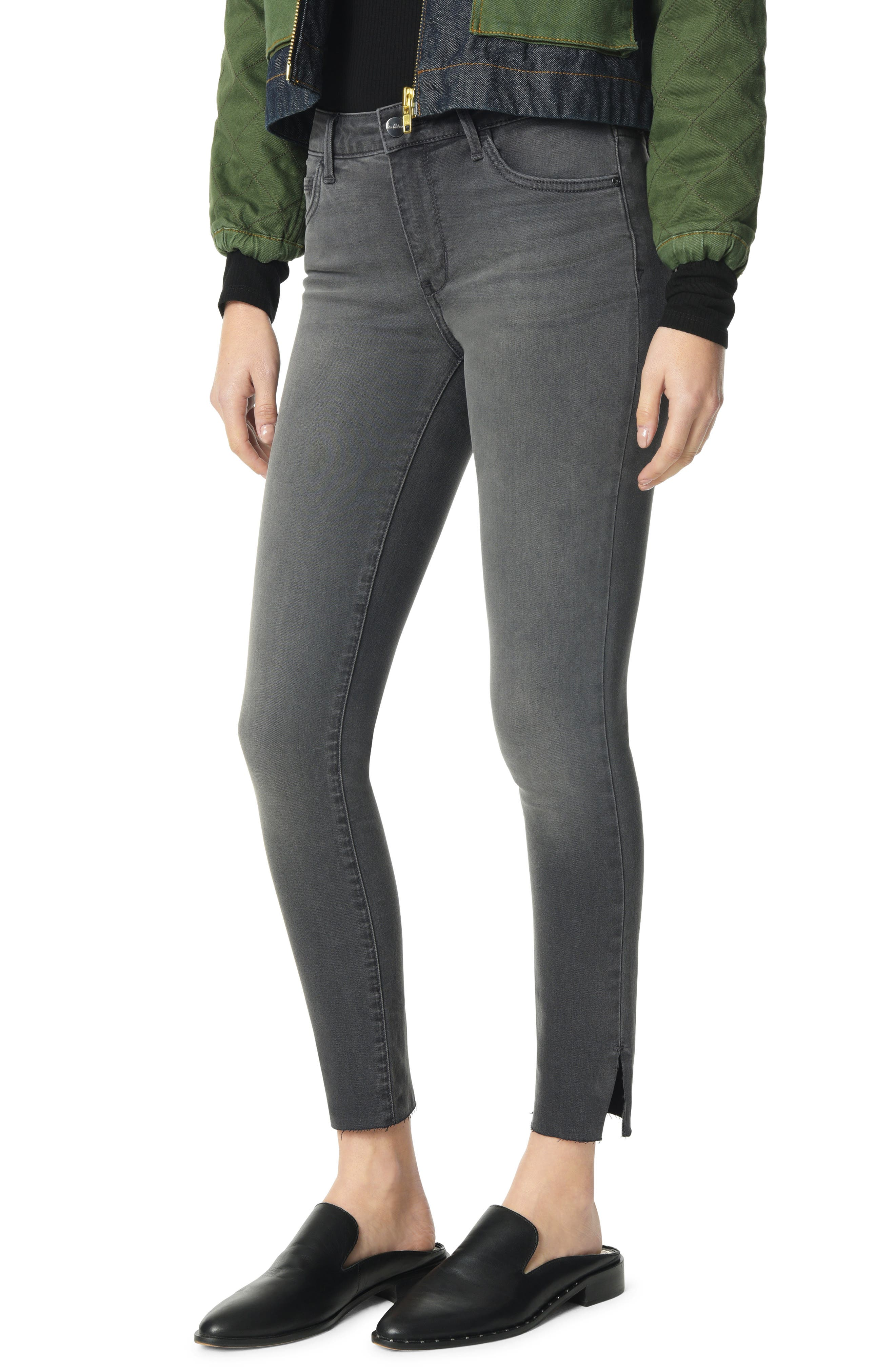 The Kitten Side Slit Ankle Skinny Jeans,                         Main,                         color, MASON