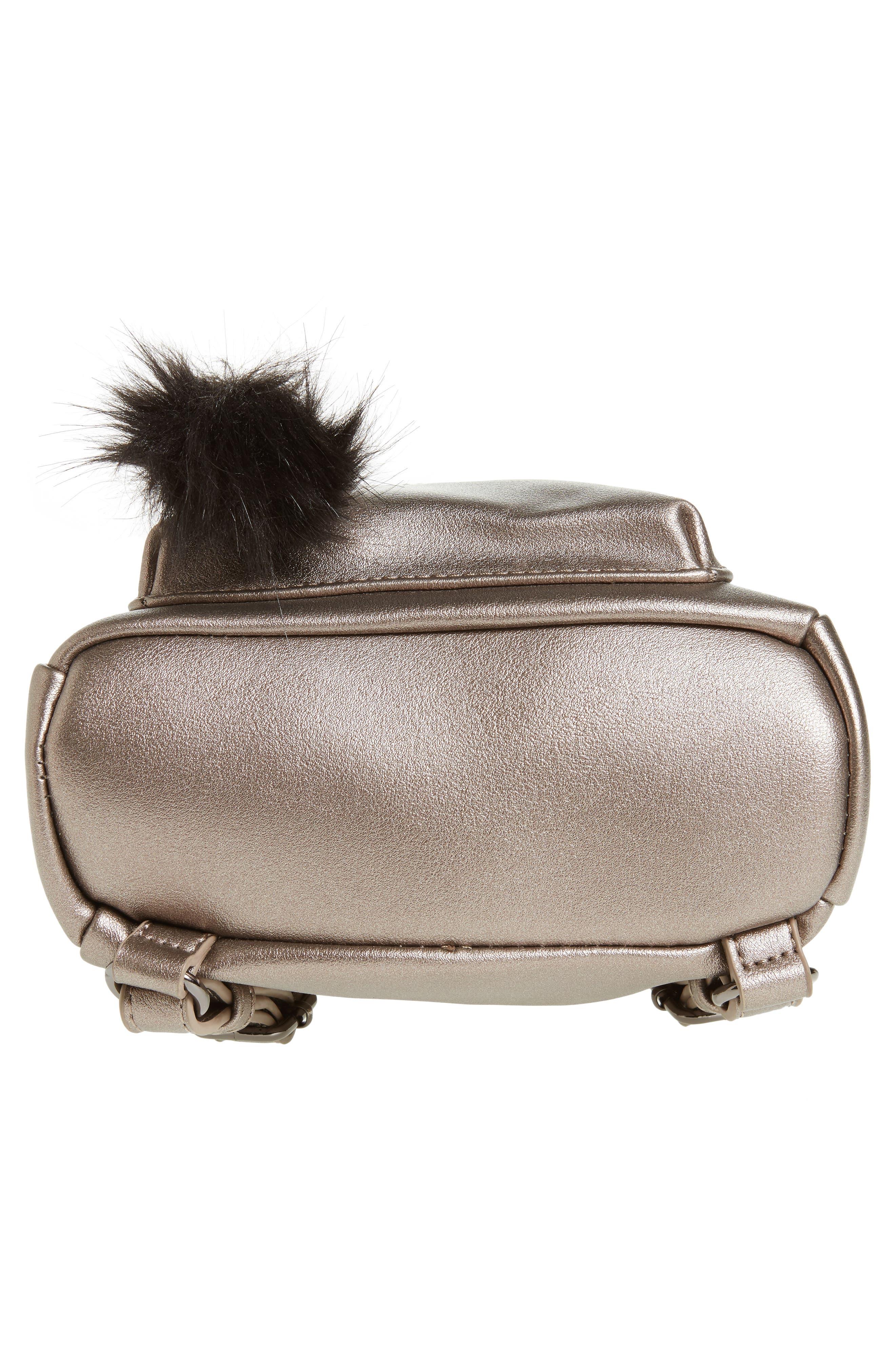Faux Leather Mini Backpack,                             Alternate thumbnail 42, color,