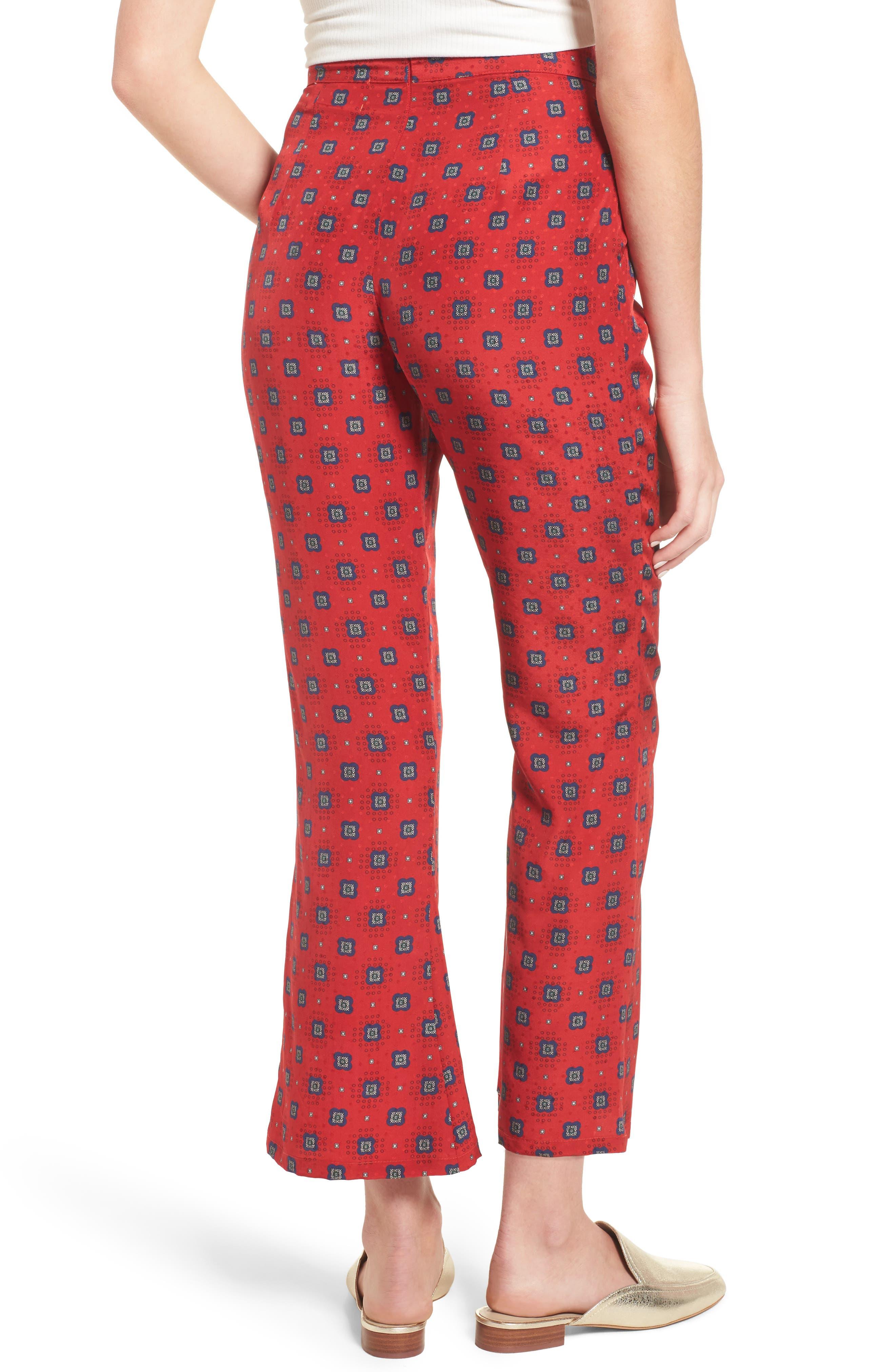 Isla Silk Crop Pants,                             Alternate thumbnail 4, color,