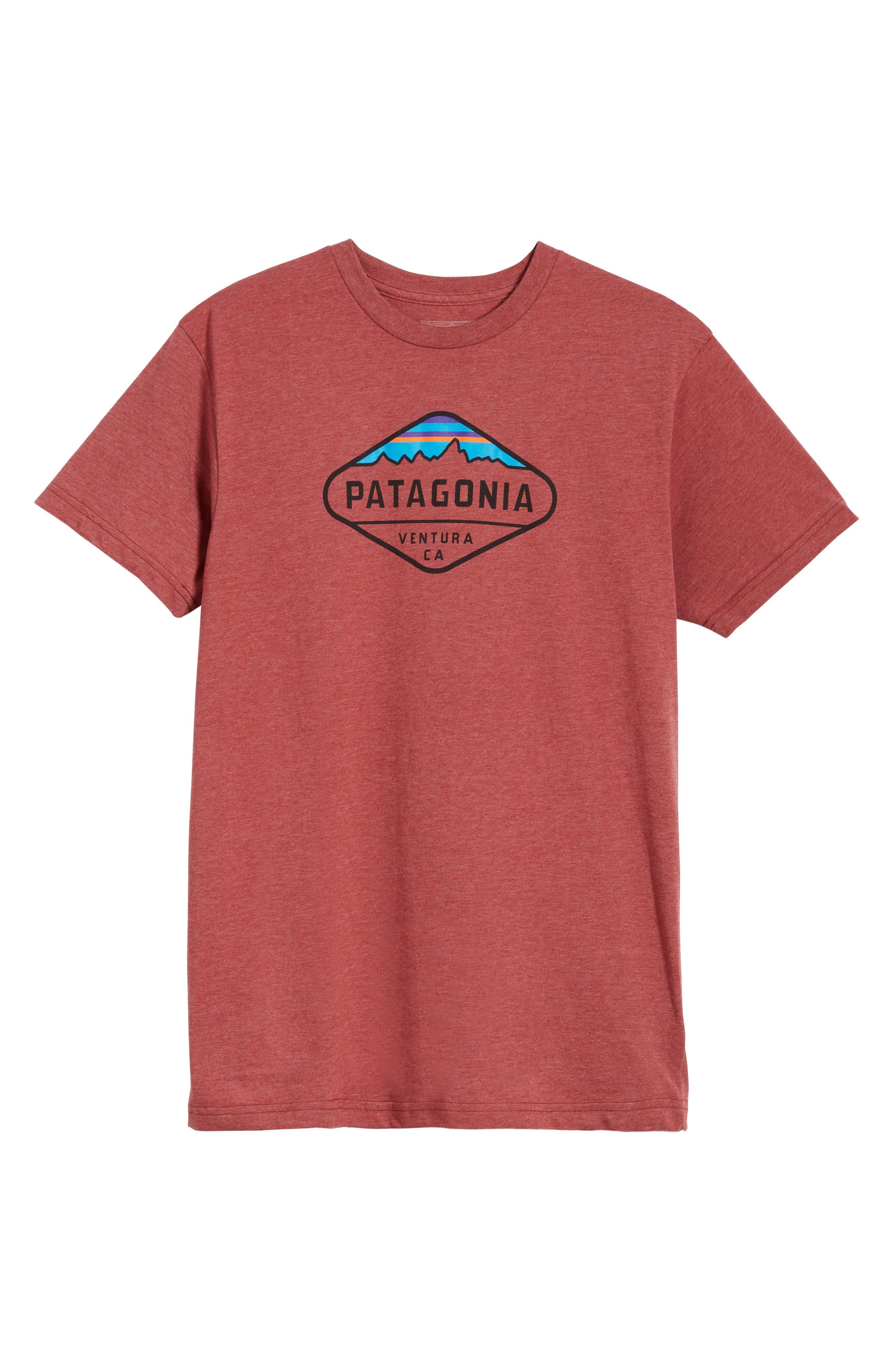 'Fitz Roy Crest' Slim Fit Organic Cotton Blend T-Shirt,                             Alternate thumbnail 41, color,