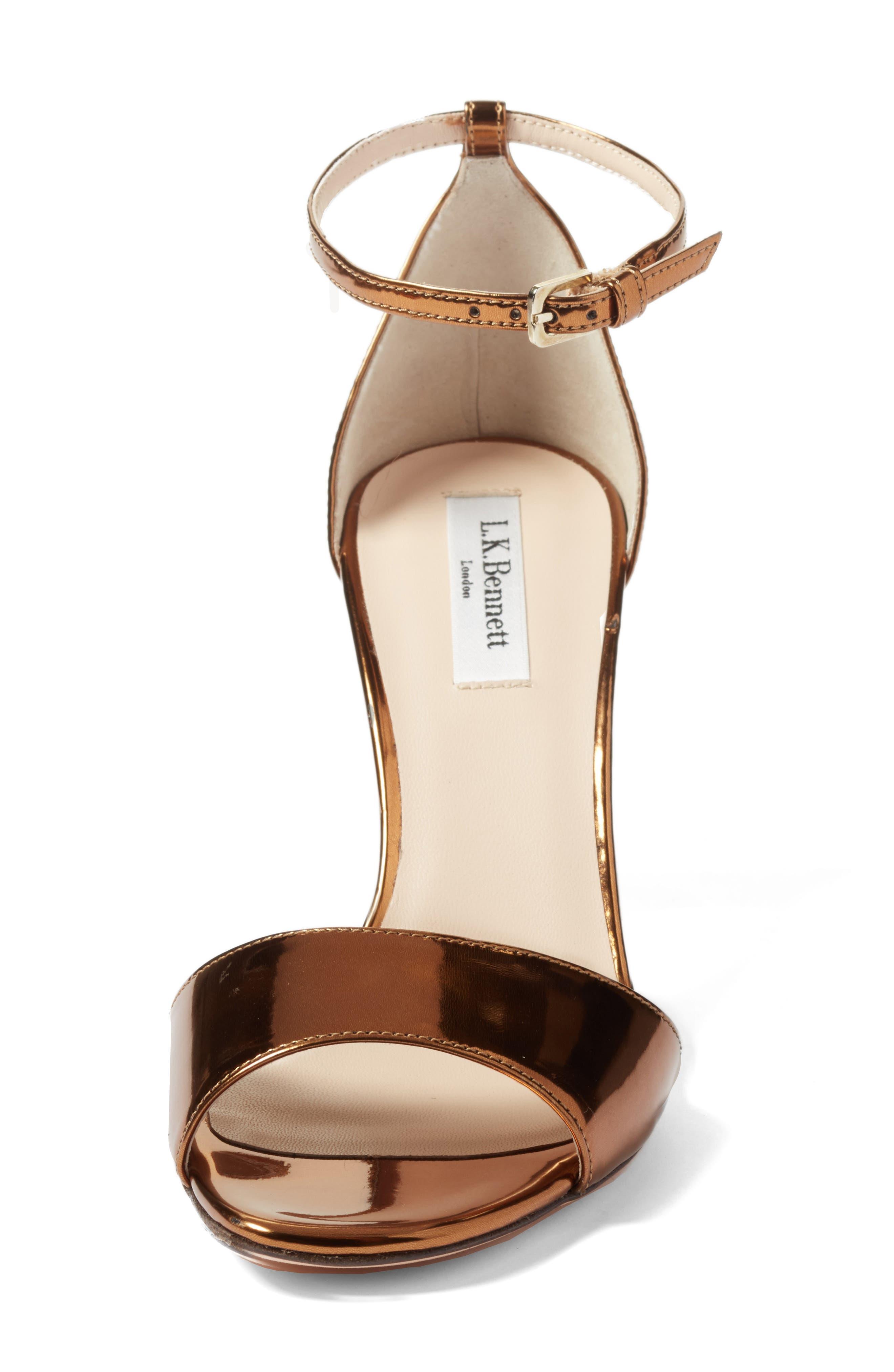 'Helena' Ankle Strap Block Heel Sandal,                             Alternate thumbnail 4, color,                             710