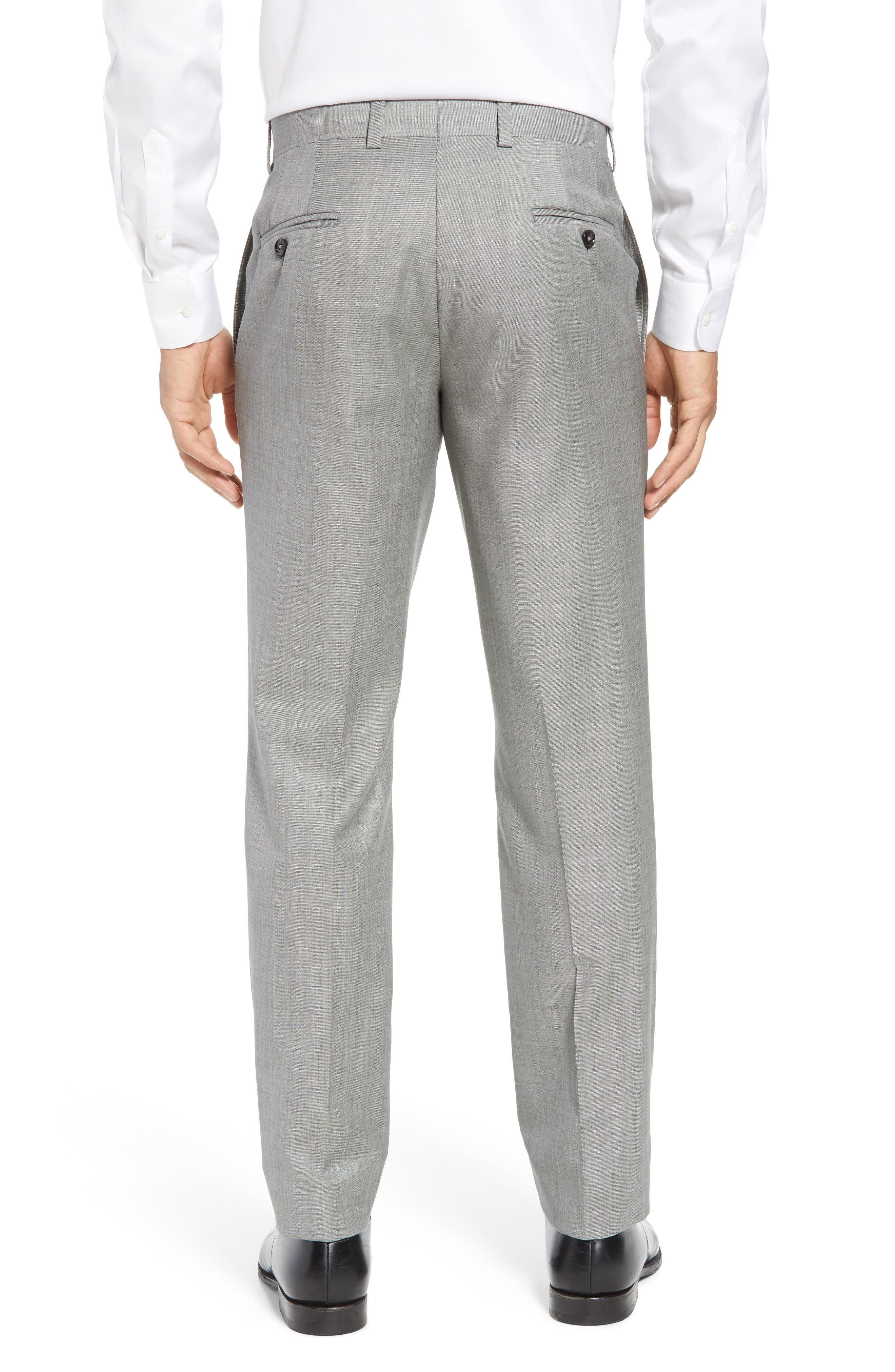 Jefferson Flat Front Wool Trousers,                             Alternate thumbnail 20, color,