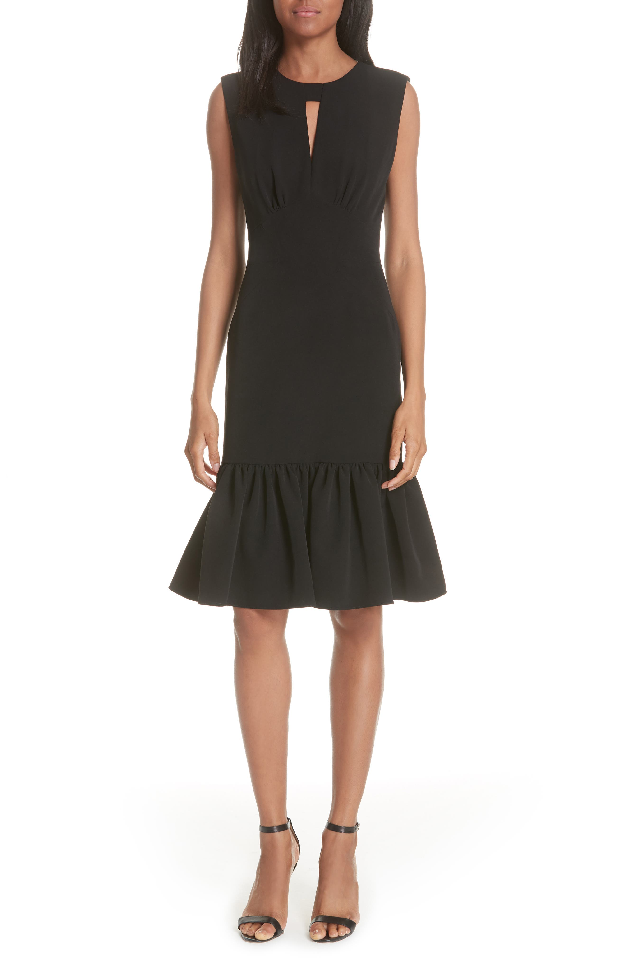 Flare Hem Dress,                         Main,                         color, 001
