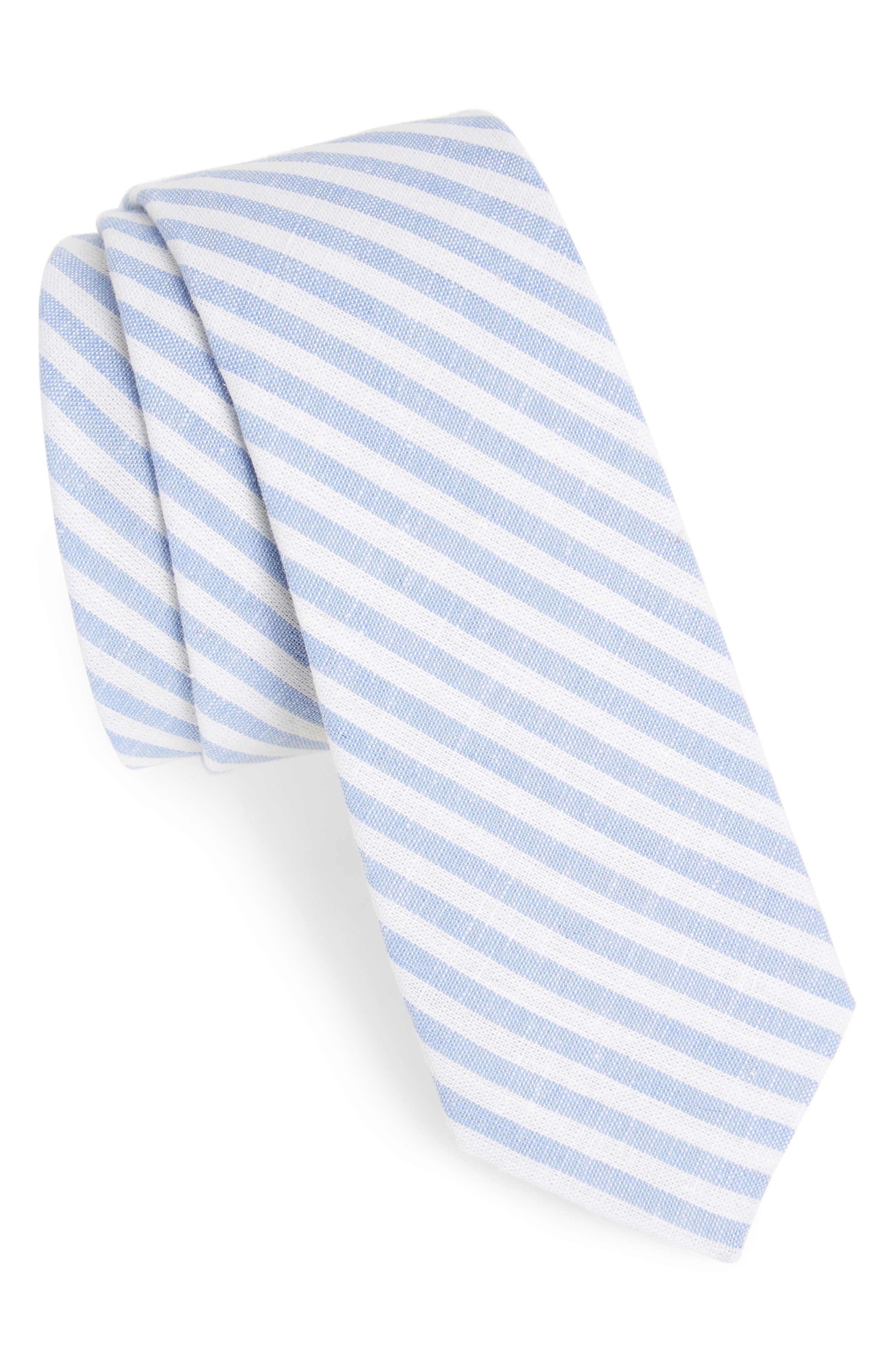 Stripe Cotton Tie,                             Main thumbnail 3, color,