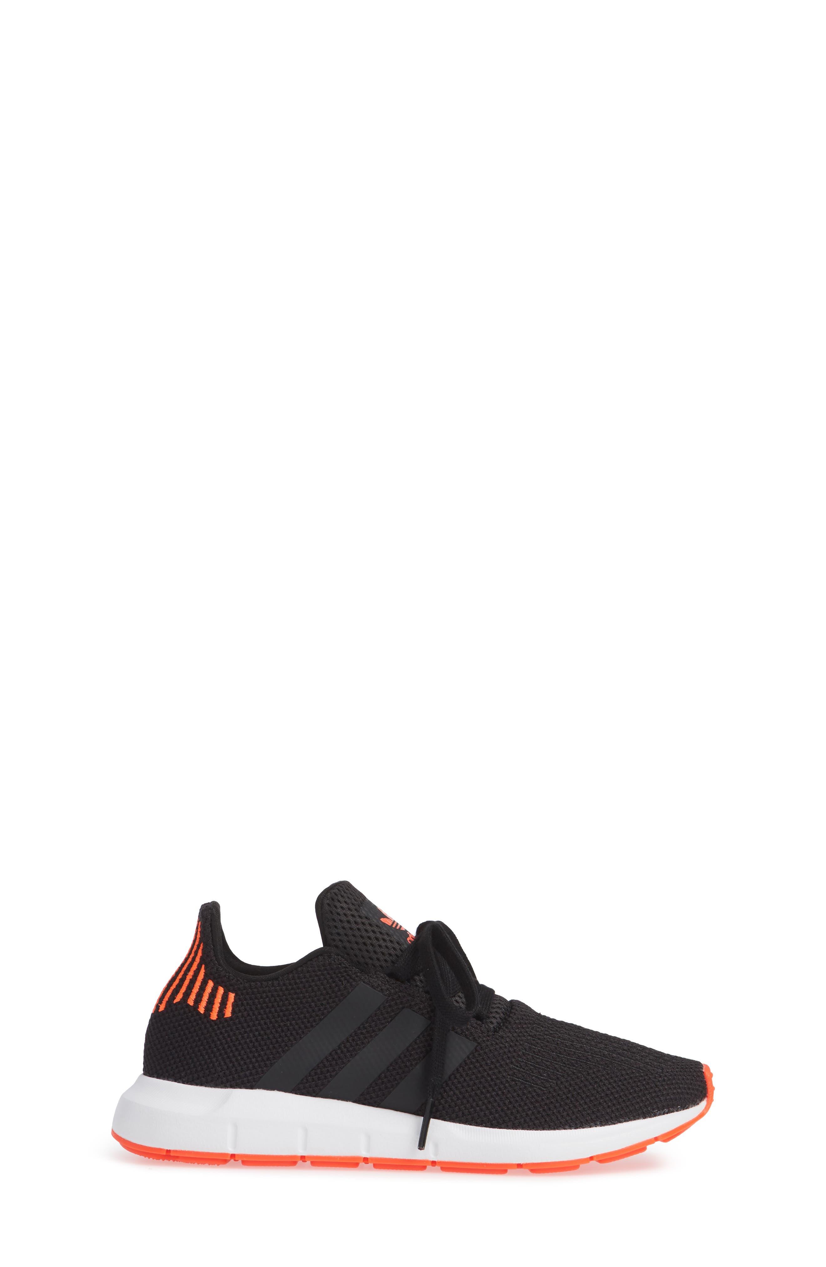 Swift Run J Sneaker,                             Alternate thumbnail 3, color,                             BLACK/ BLACK/ SOLAR RED