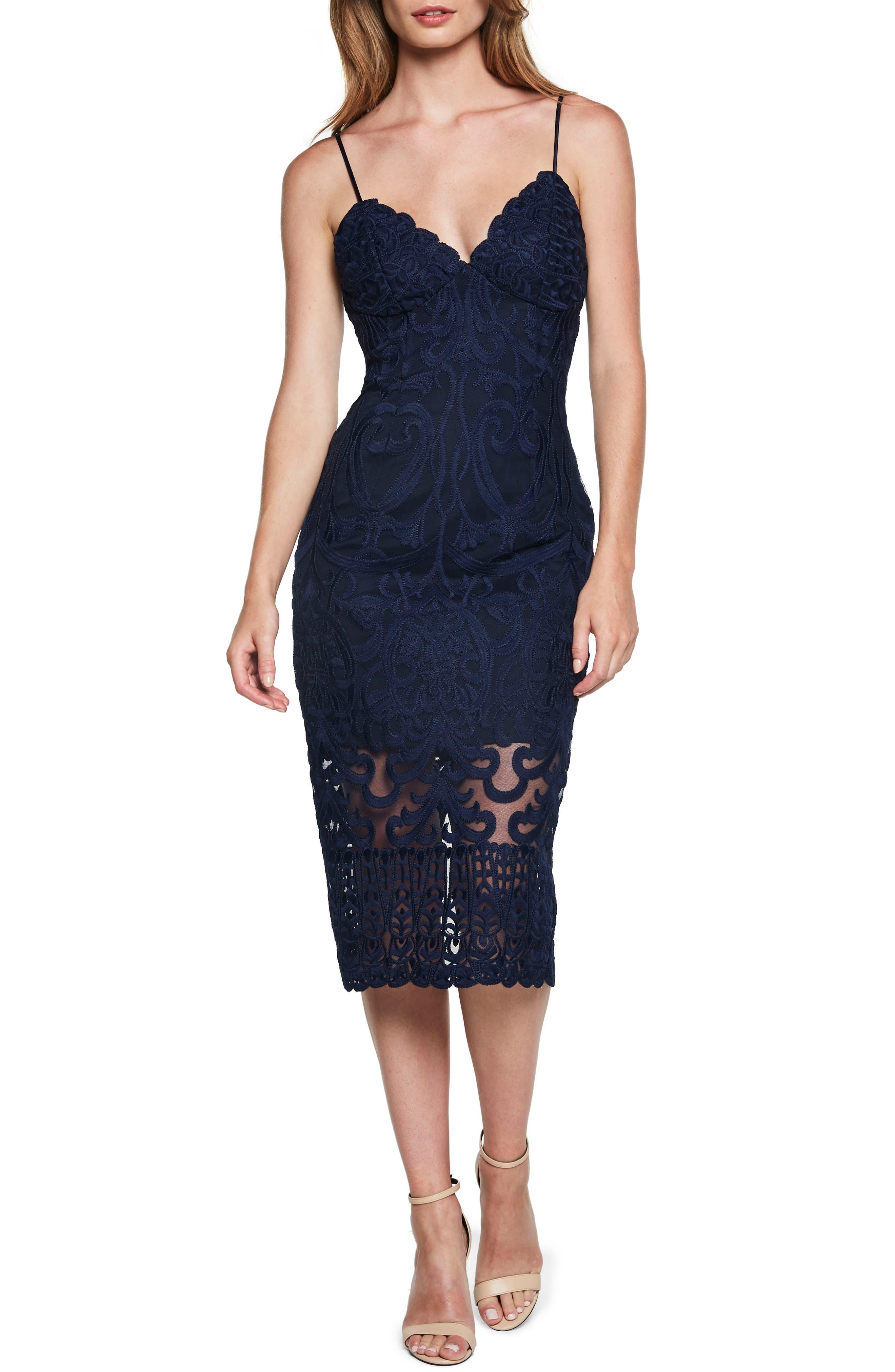 Gia Lace Pencil Dress,                             Main thumbnail 4, color,