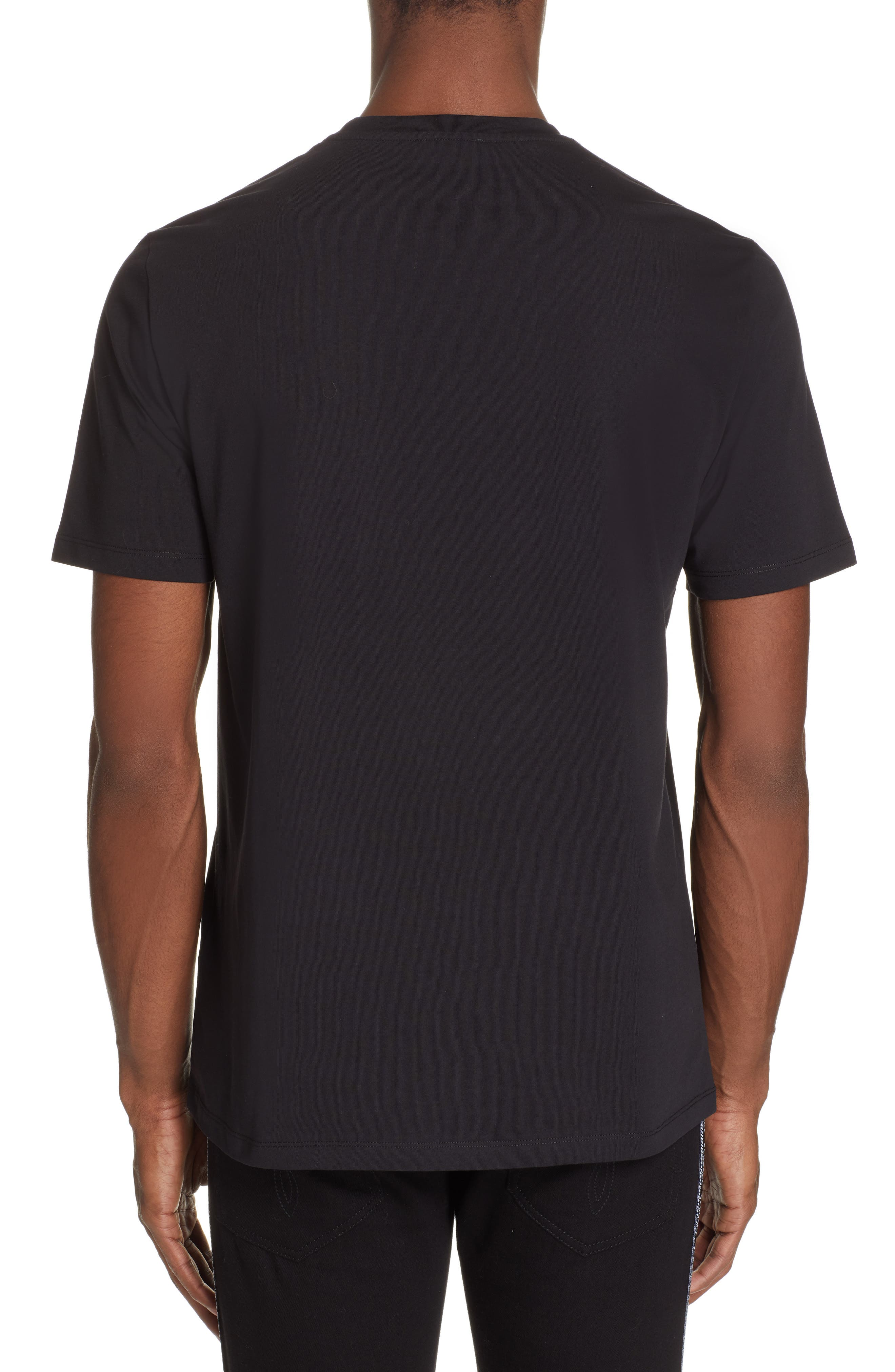 VERSACE COLLECTION,                             Half Medusa T-Shirt,                             Alternate thumbnail 2, color,                             BLACK