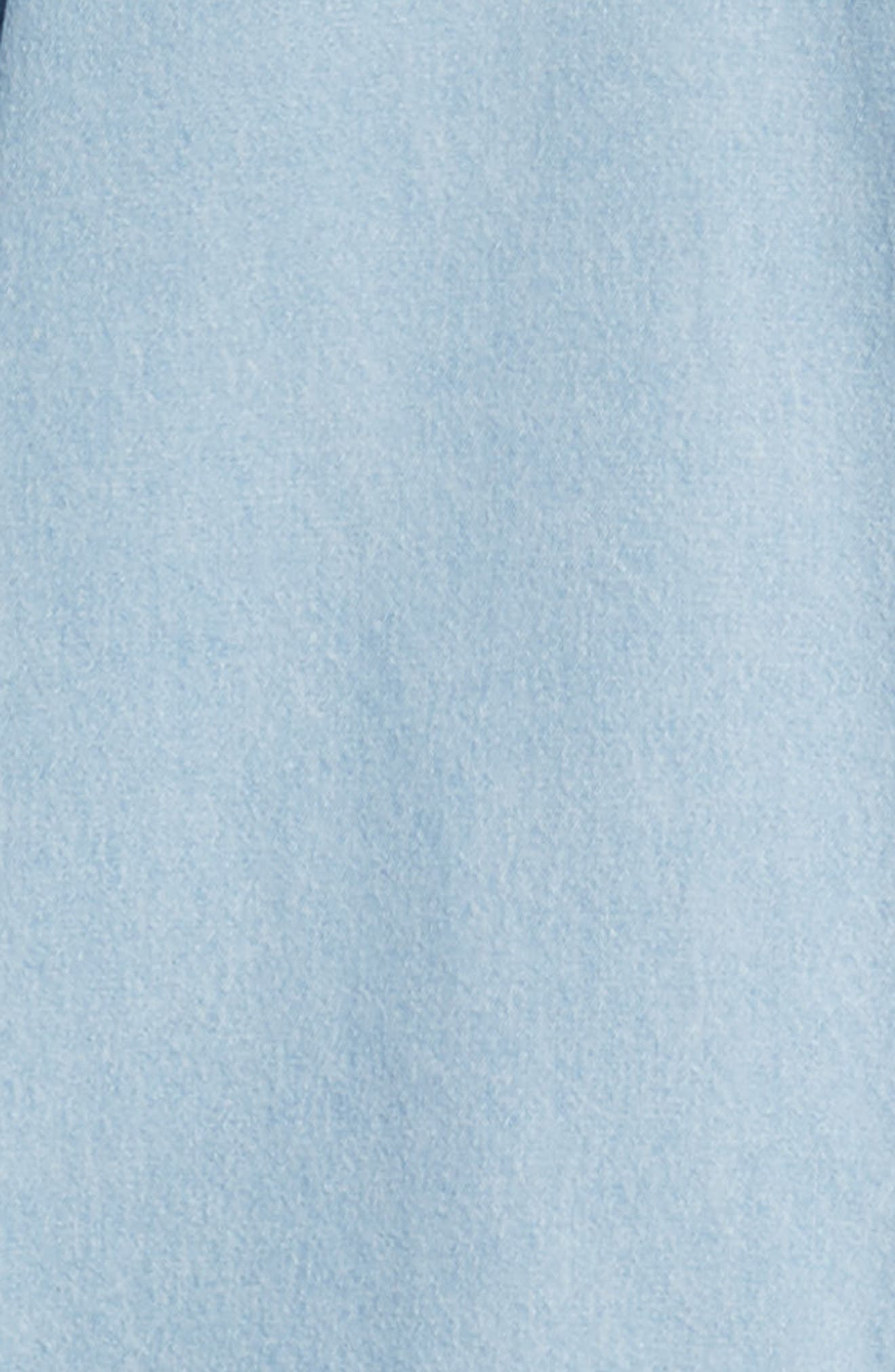 Keble Chambray Shirt,                             Alternate thumbnail 6, color,                             BLUE
