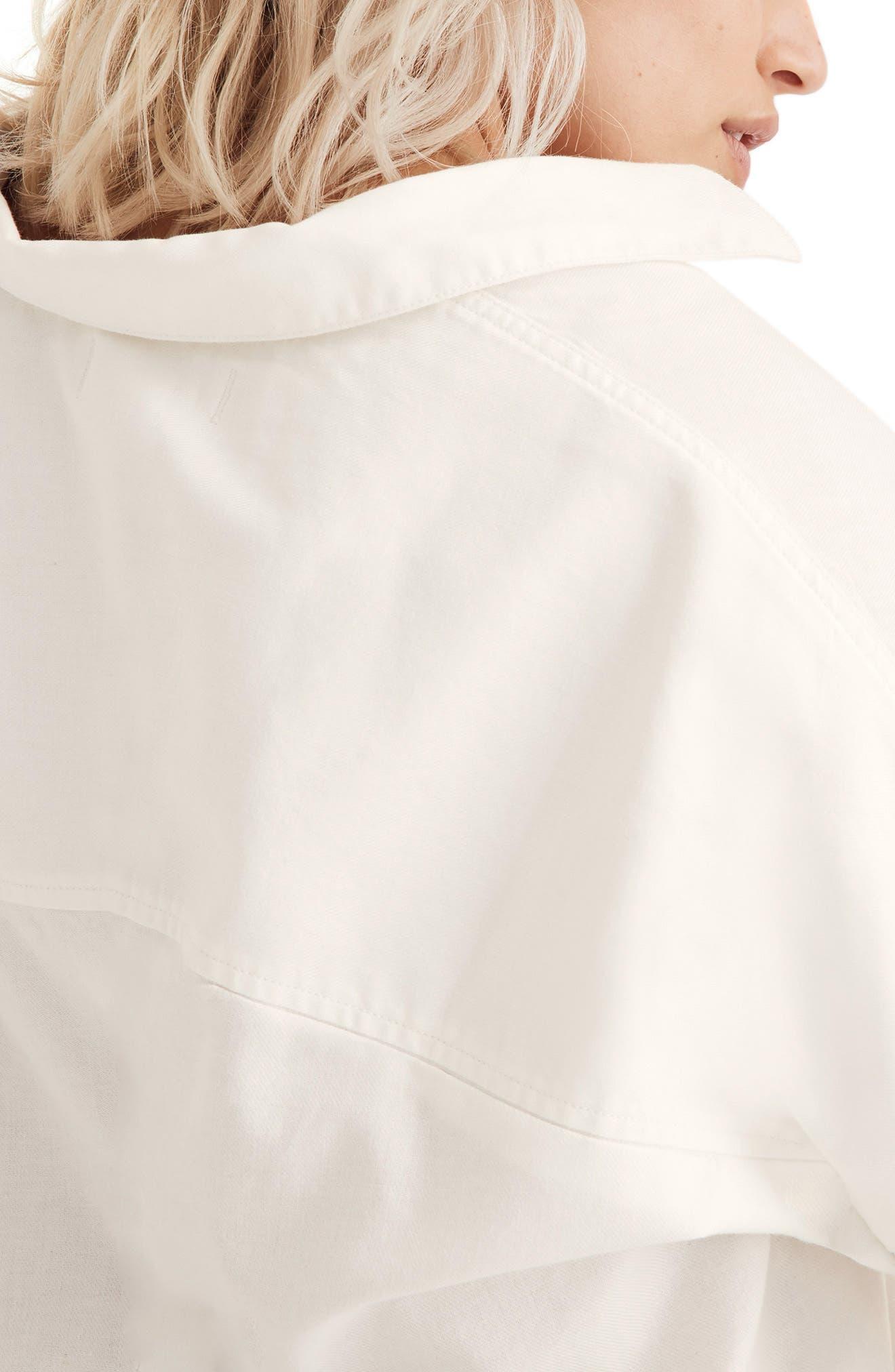 Cotton Courier Shirt,                             Alternate thumbnail 6, color,                             PURE WHITE