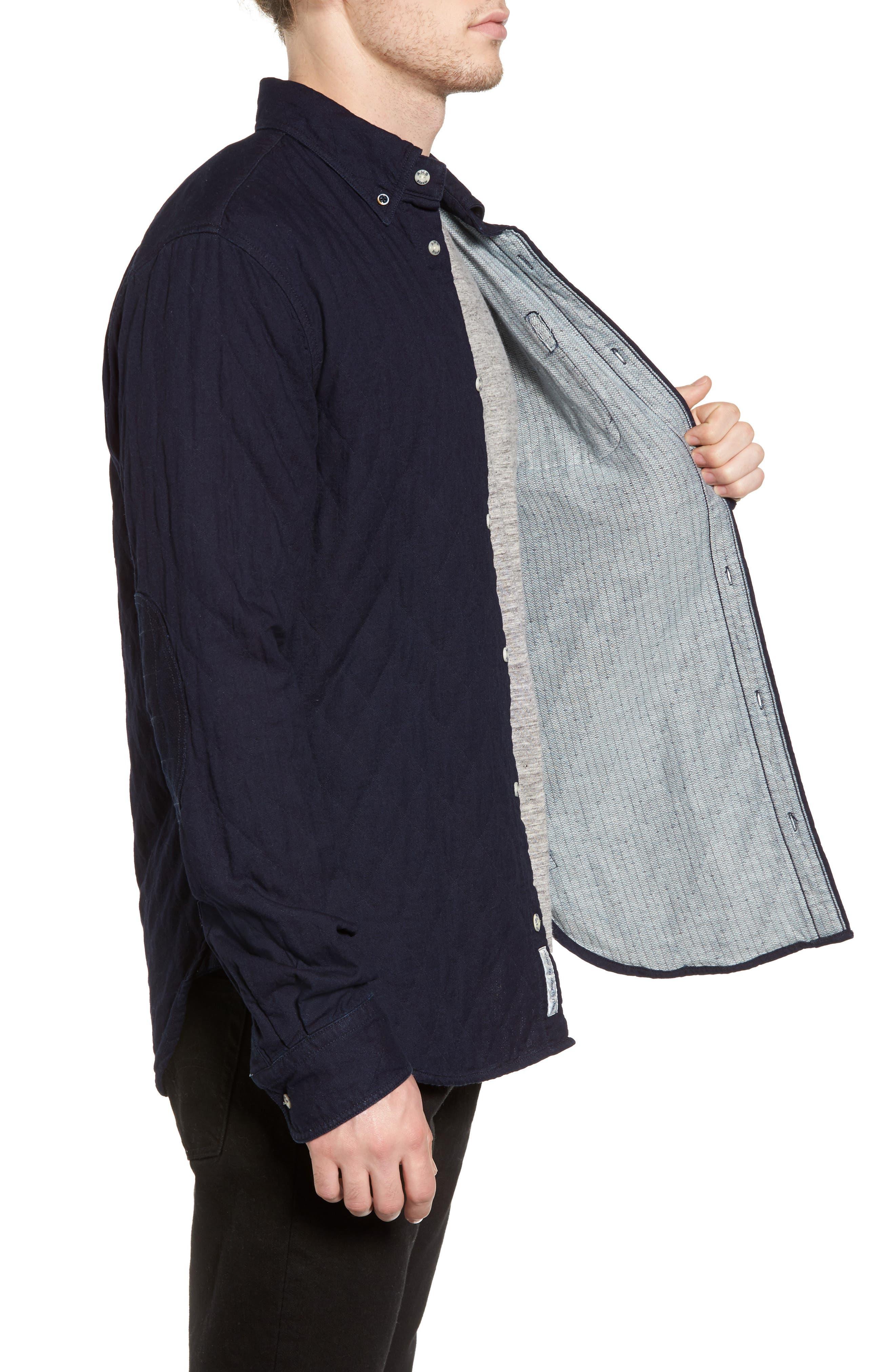 Double Weave Overshirt,                             Alternate thumbnail 3, color,                             401