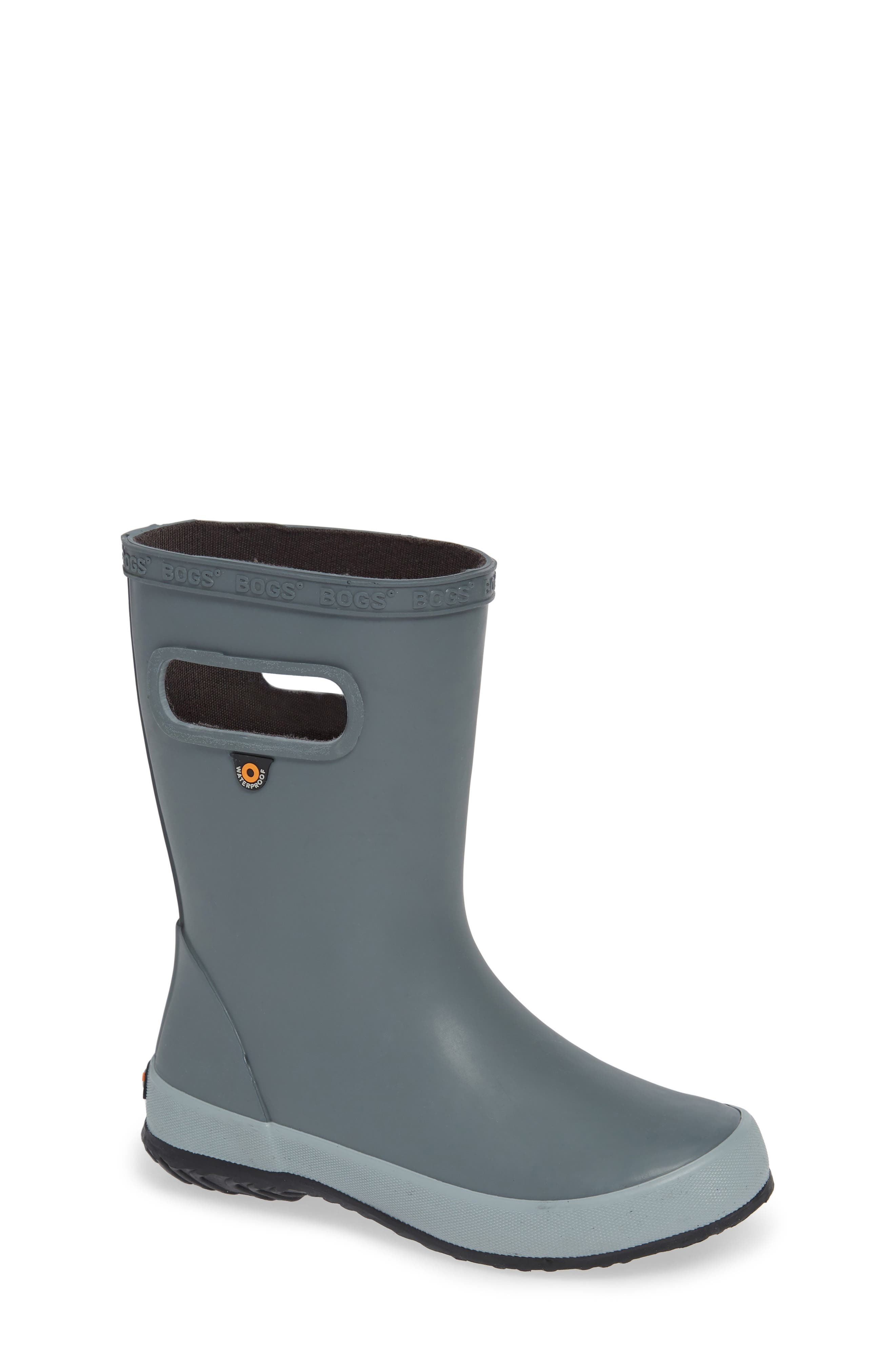 Skipper Solid Rubber Rain Boot,                             Main thumbnail 1, color,                             GRAY