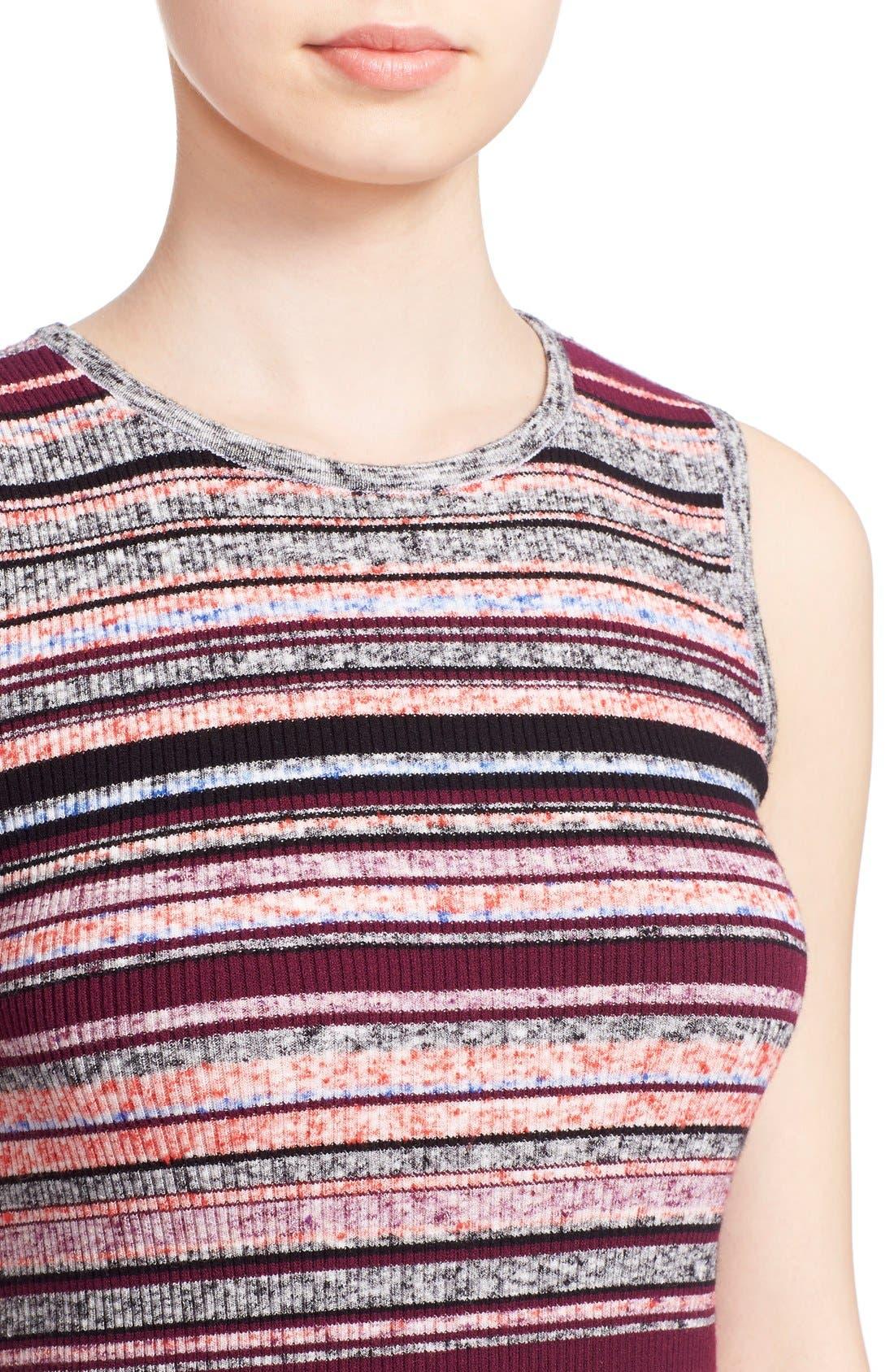 'Ash' Stripe Sleeveless Ribbed Top,                             Alternate thumbnail 2, color,                             930