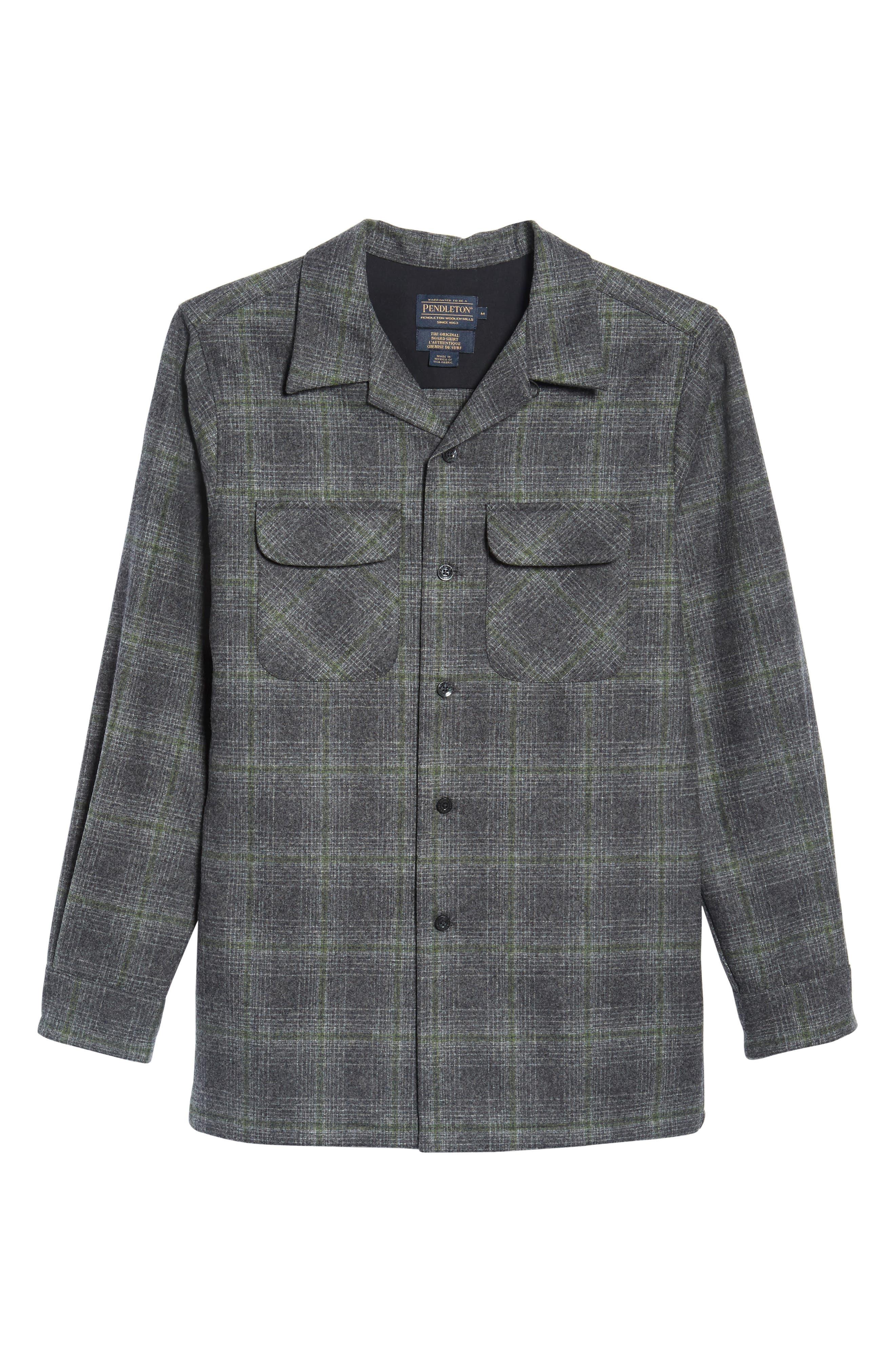 'Board' Regular Fit Flannel Shirt,                             Alternate thumbnail 6, color,                             031
