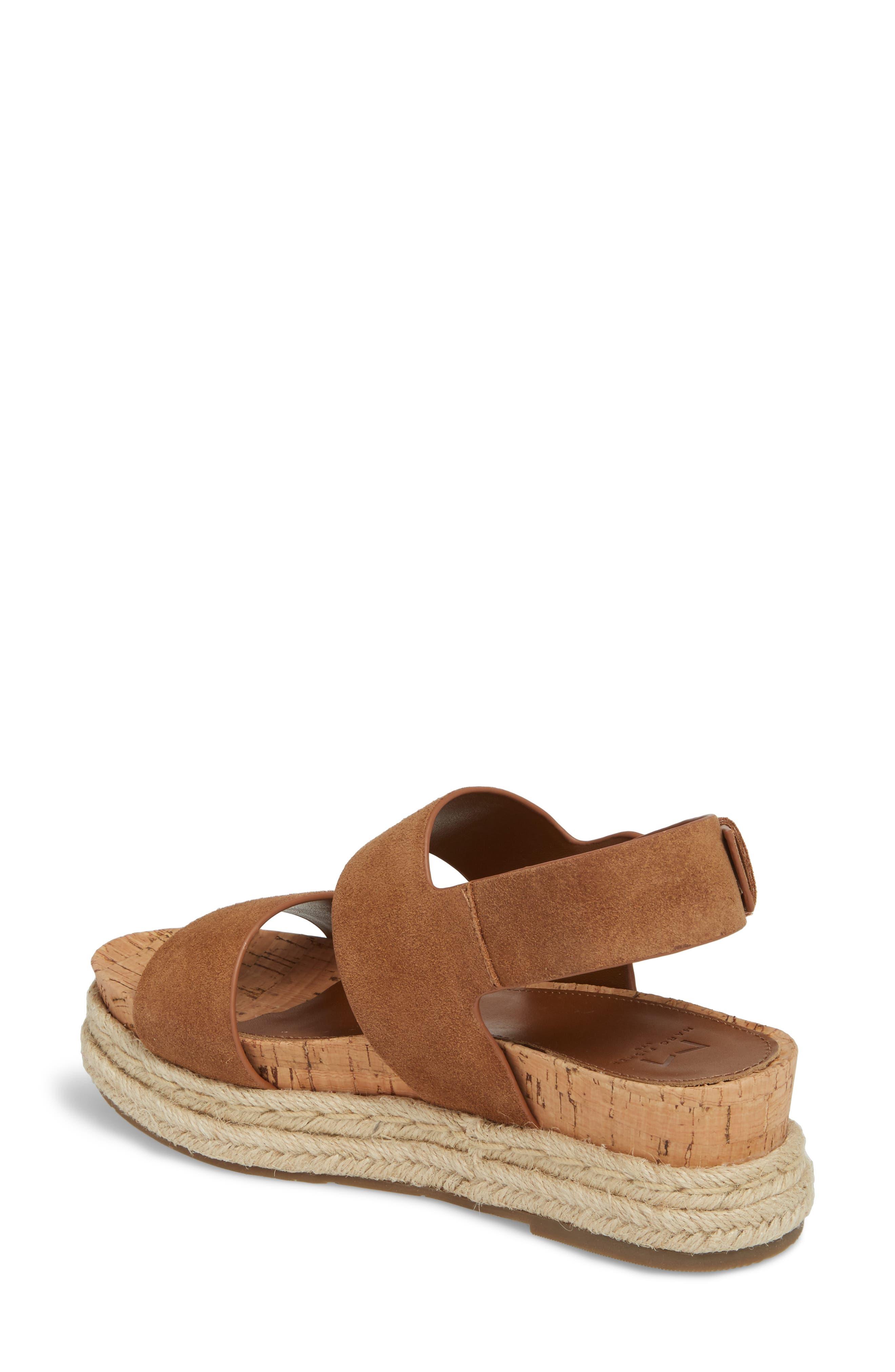 Oria Espadrille Platform Sandal,                             Alternate thumbnail 2, color,                             COGNAC SUEDE