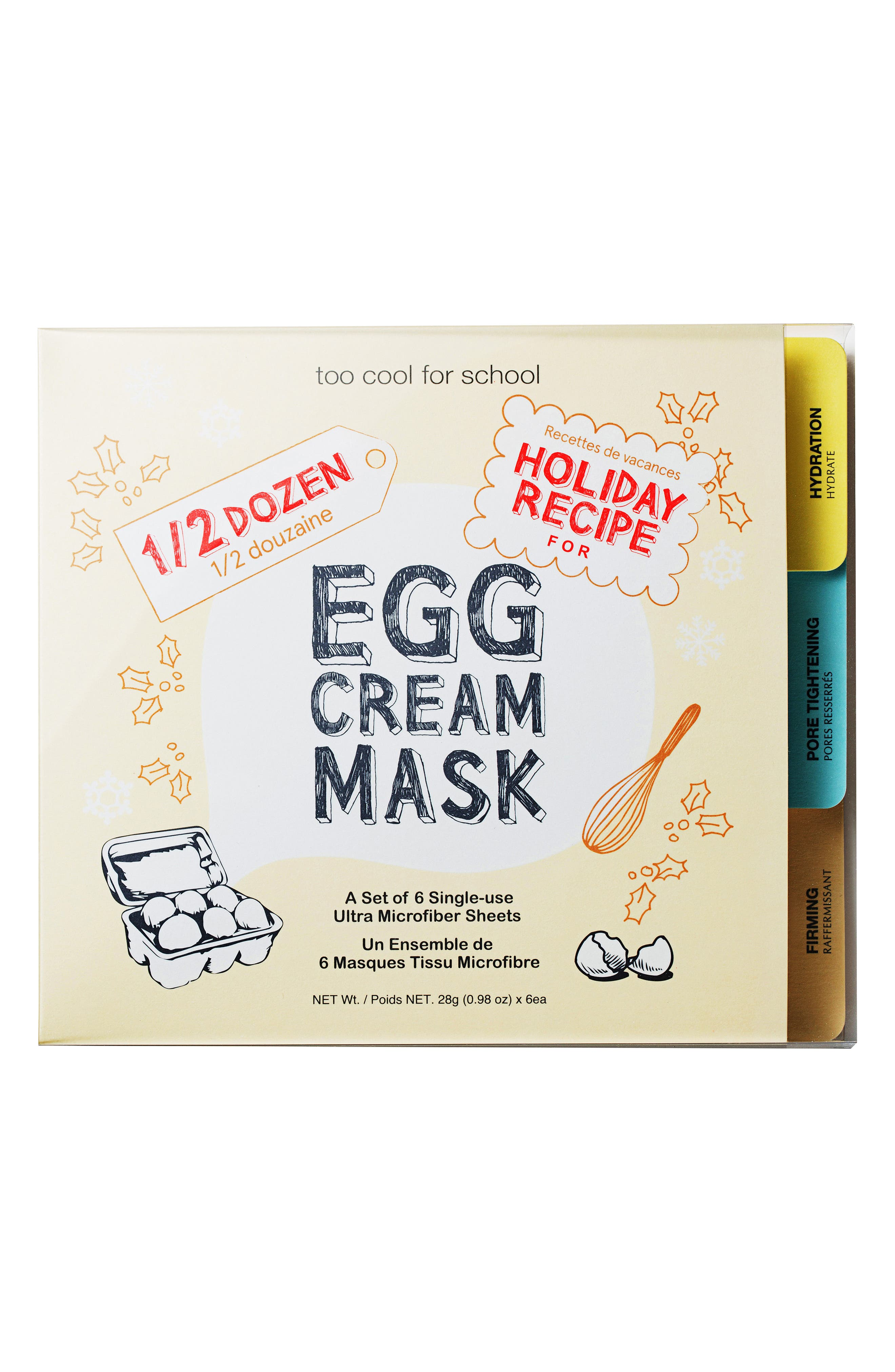 Half-Dozen Egg Cream Mask Set,                             Alternate thumbnail 2, color,                             000