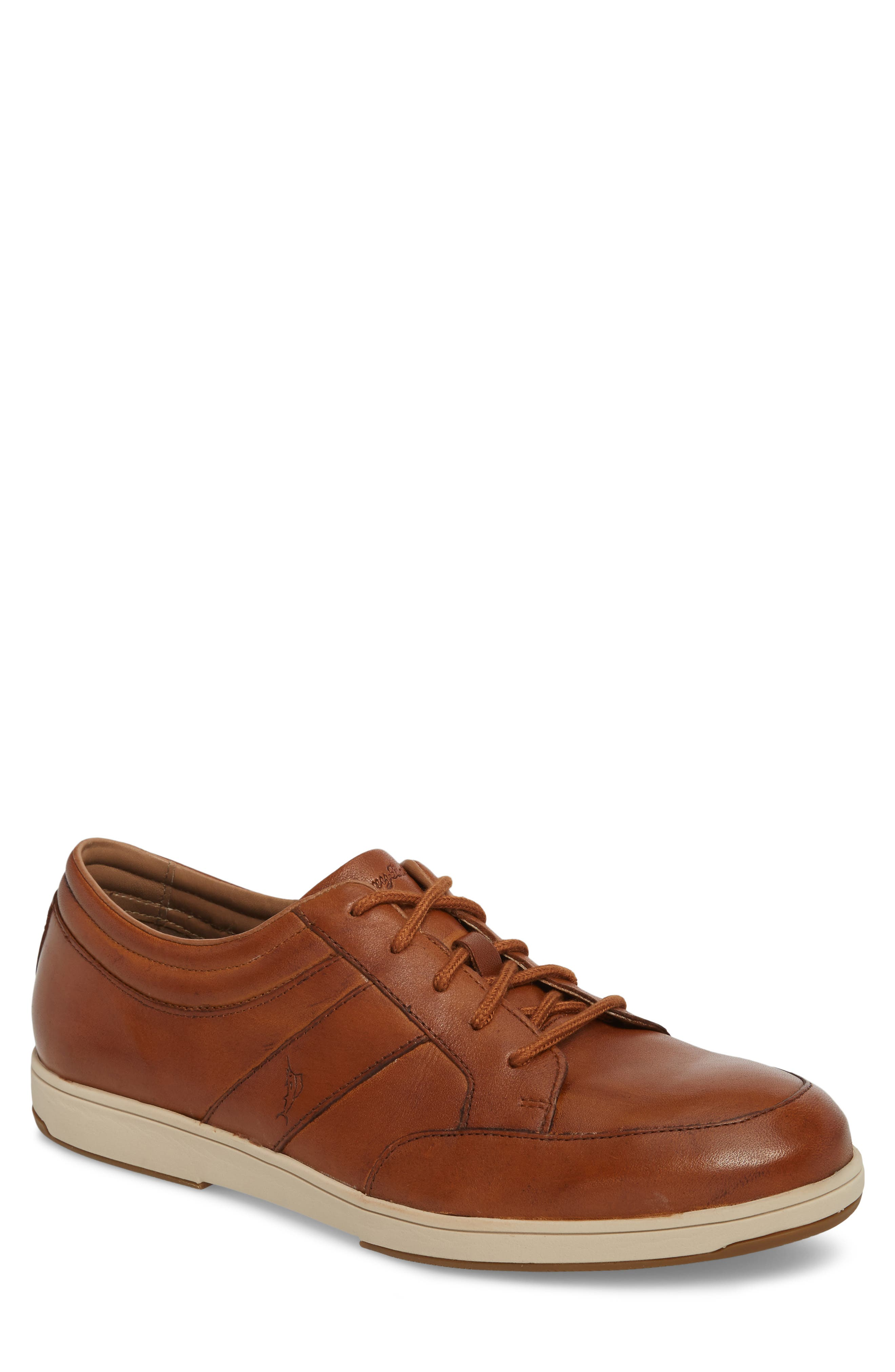 Caicos Authentic Low Top Sneaker,                             Main thumbnail 1, color,                             TAN LEATHER