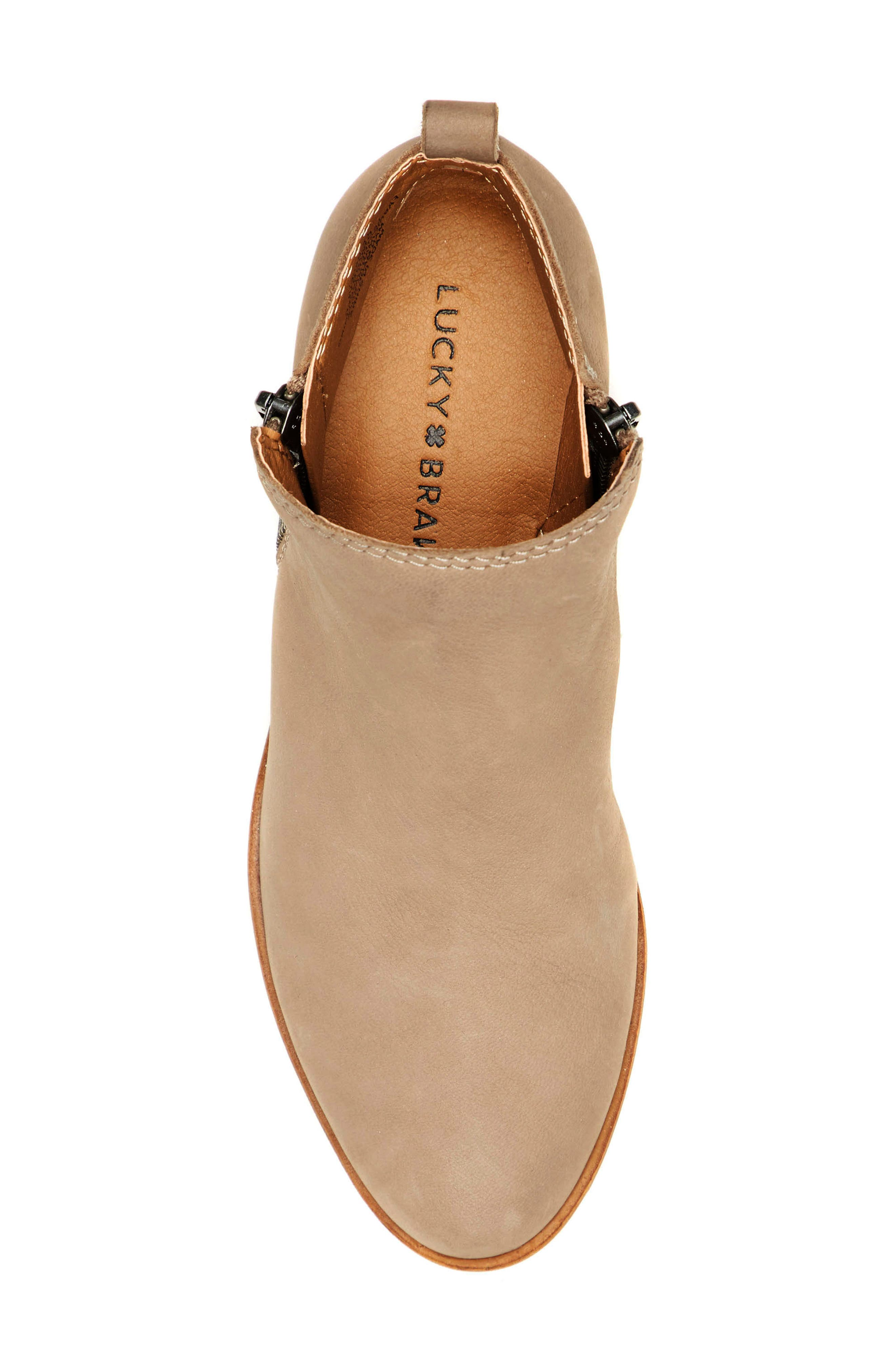 Basel Bootie,                             Alternate thumbnail 3, color,                             CHINCHILLA SUEDE