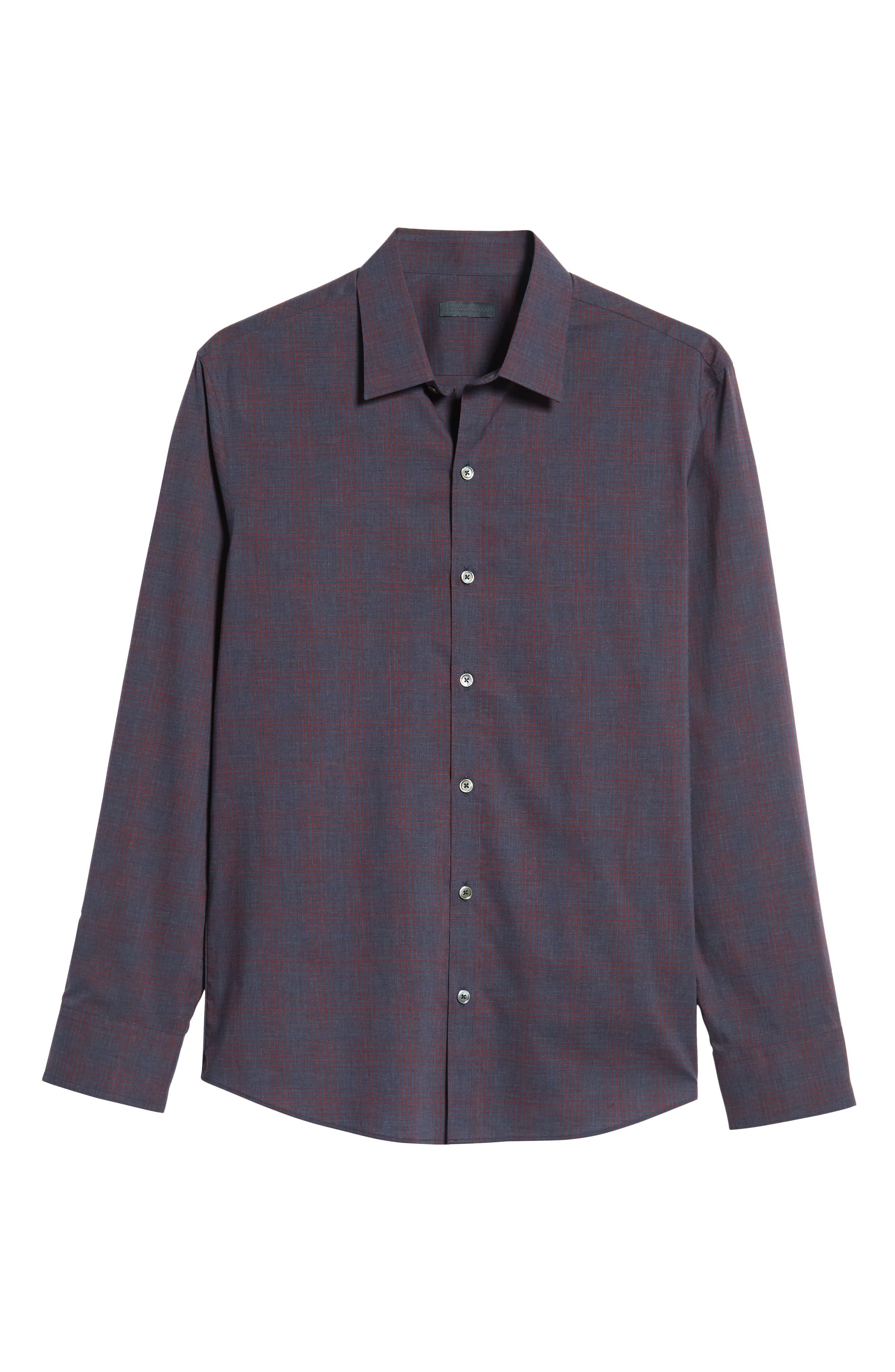 ZACHARY PRELL,                             Maslin Regular Fit Sport Shirt,                             Alternate thumbnail 5, color,                             461