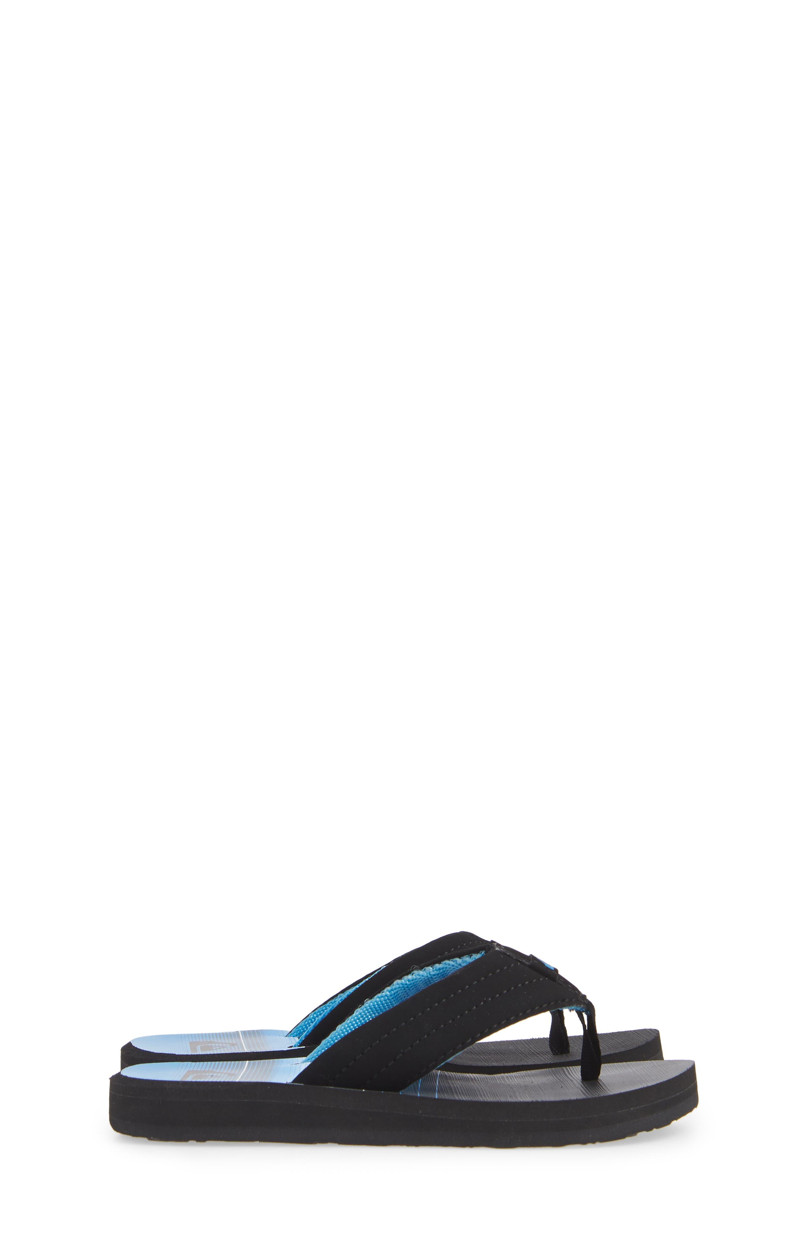Carver Flip Flop,                             Alternate thumbnail 4, color,                             BLACK/ GREY/ GREY