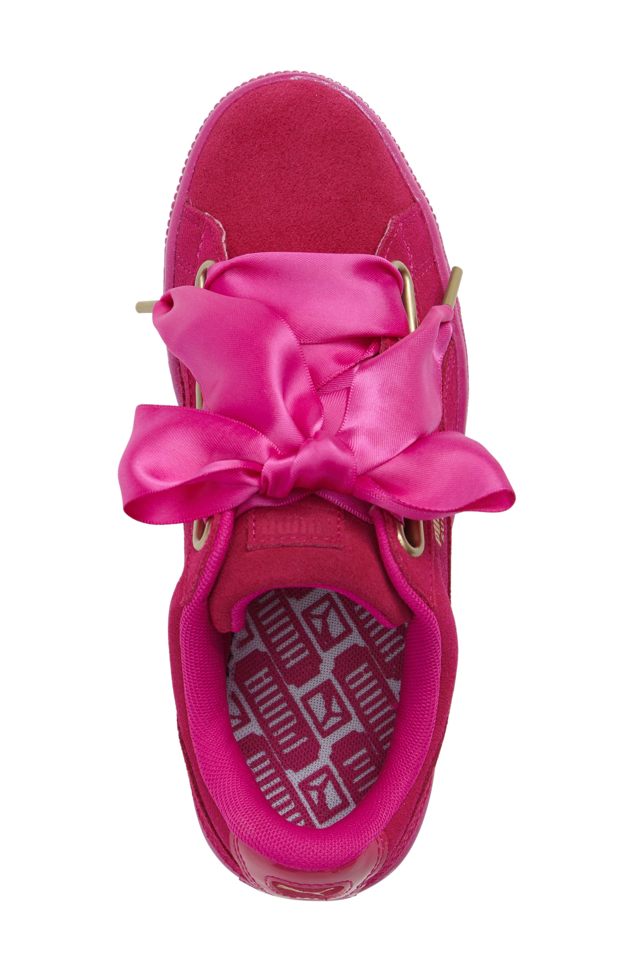 Suede - Heart Sneaker,                             Alternate thumbnail 39, color,
