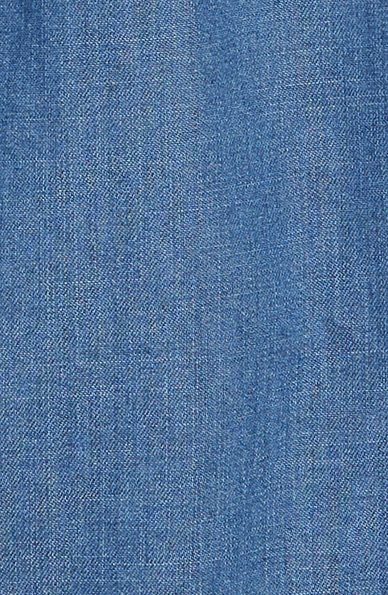 Animal Appliqué Denim Dress,                             Alternate thumbnail 3, color,                             469