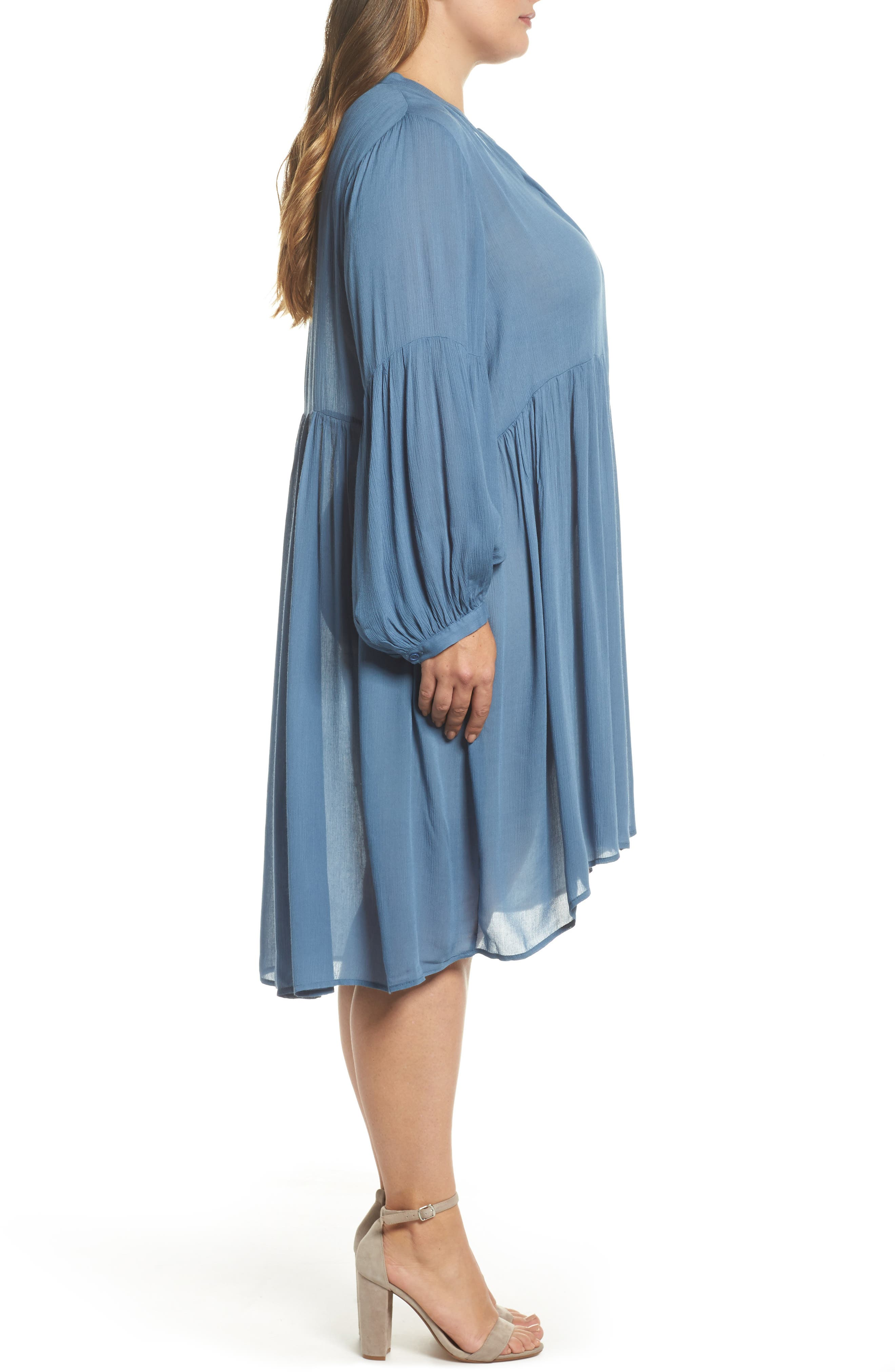 Button Front Shirtdress,                             Alternate thumbnail 3, color,                             455