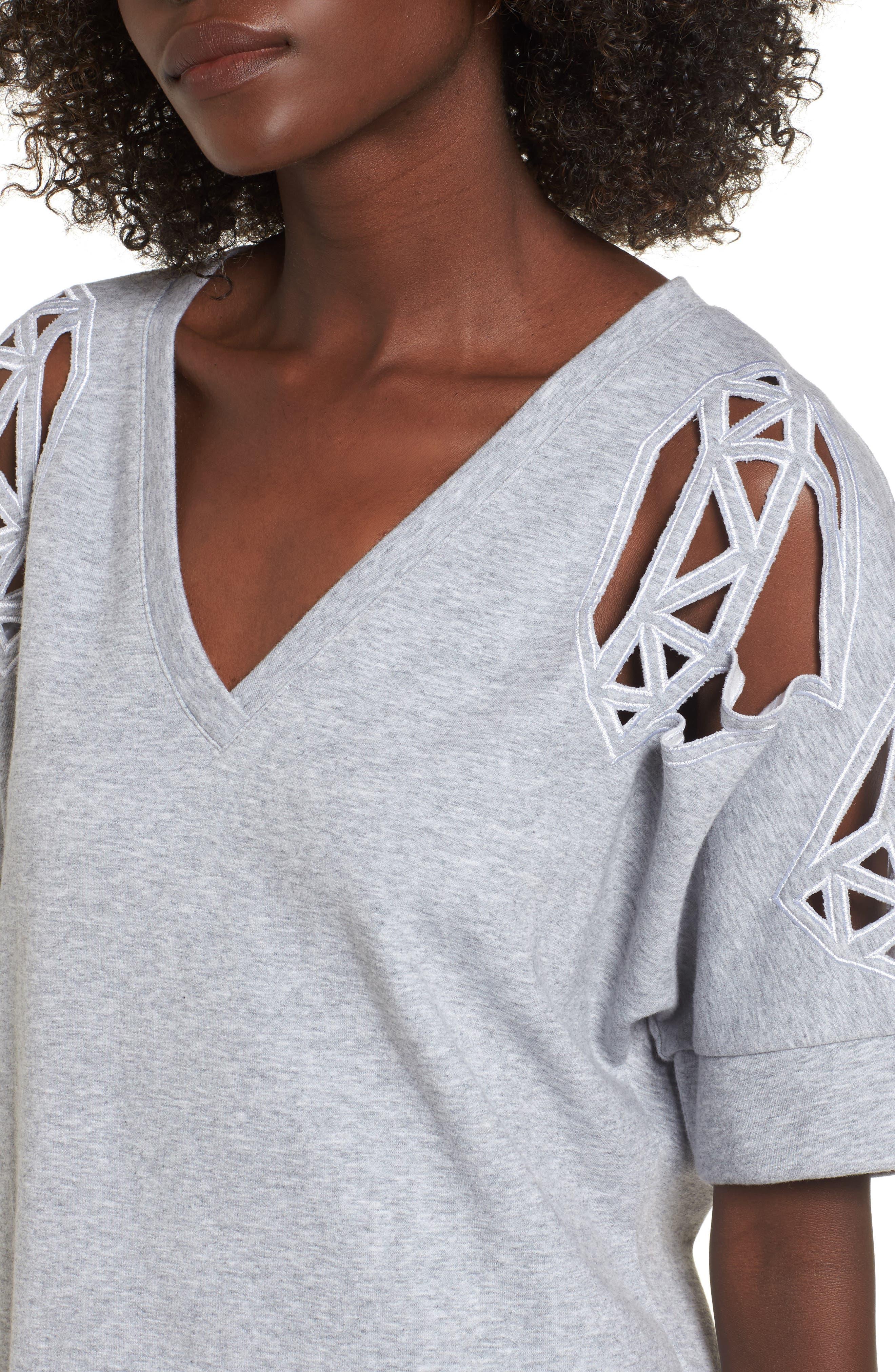 Daffic Sweatshirt Dress,                             Alternate thumbnail 4, color,                             020