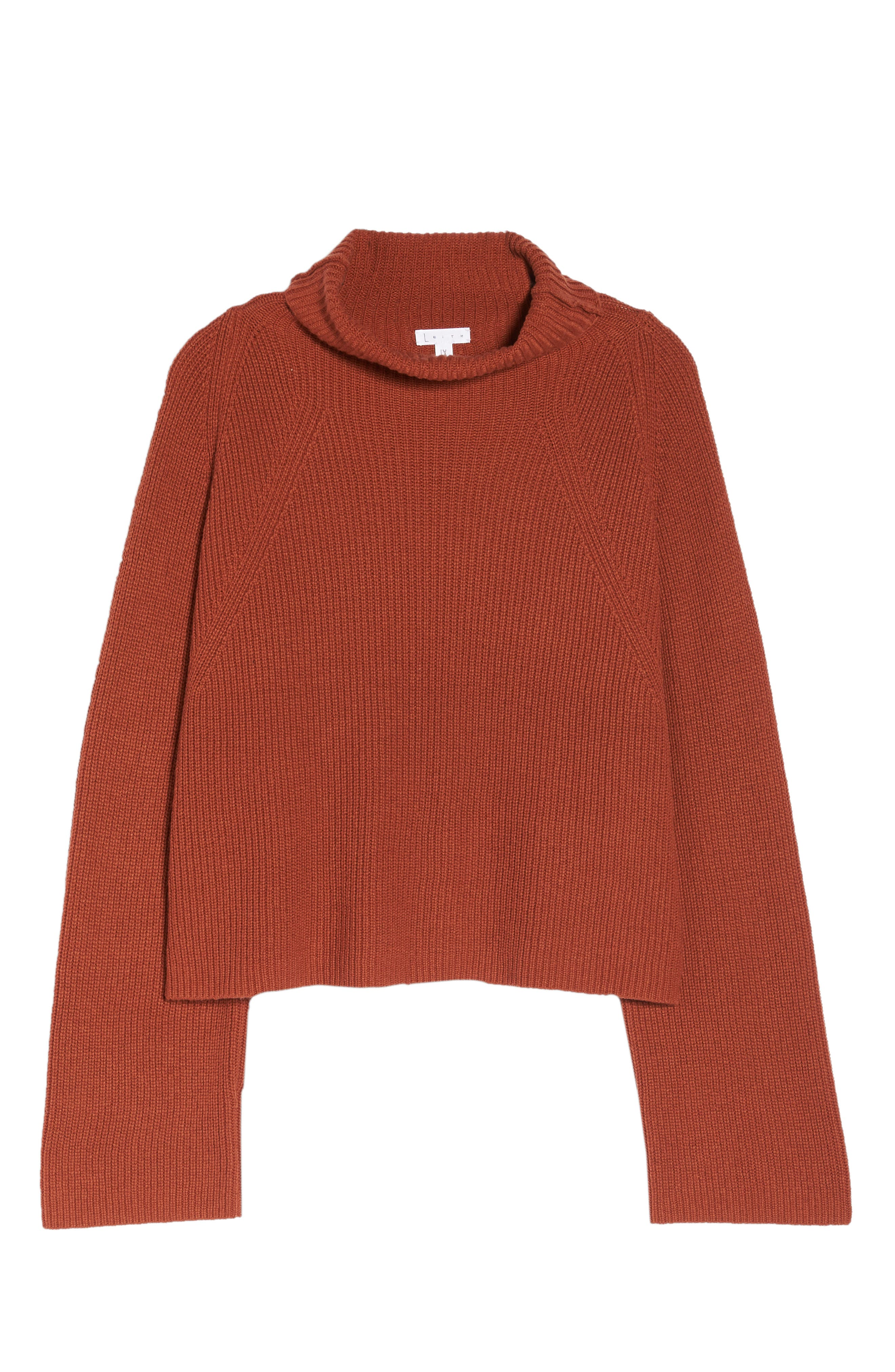 Transfer Stitch Turtleneck Sweater,                             Alternate thumbnail 11, color,                             BROWN SPICE