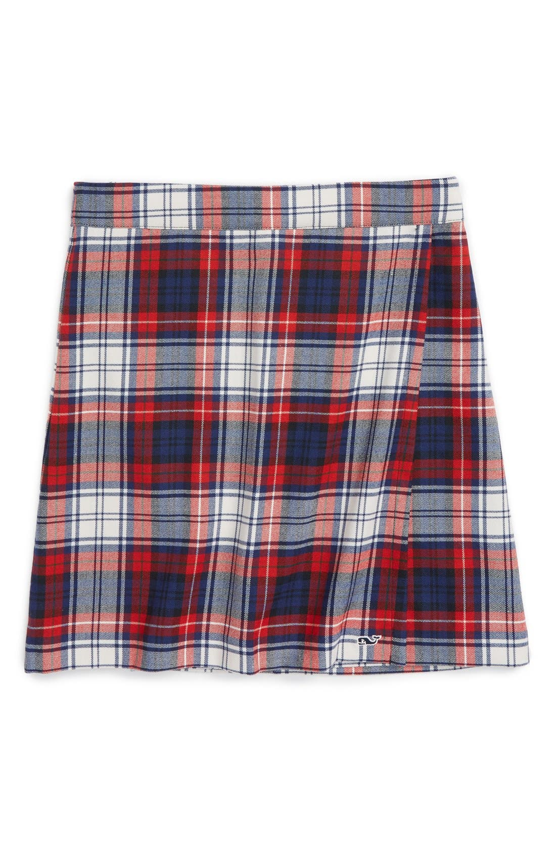 Wool Plaid Skirt,                             Main thumbnail 1, color,                             476