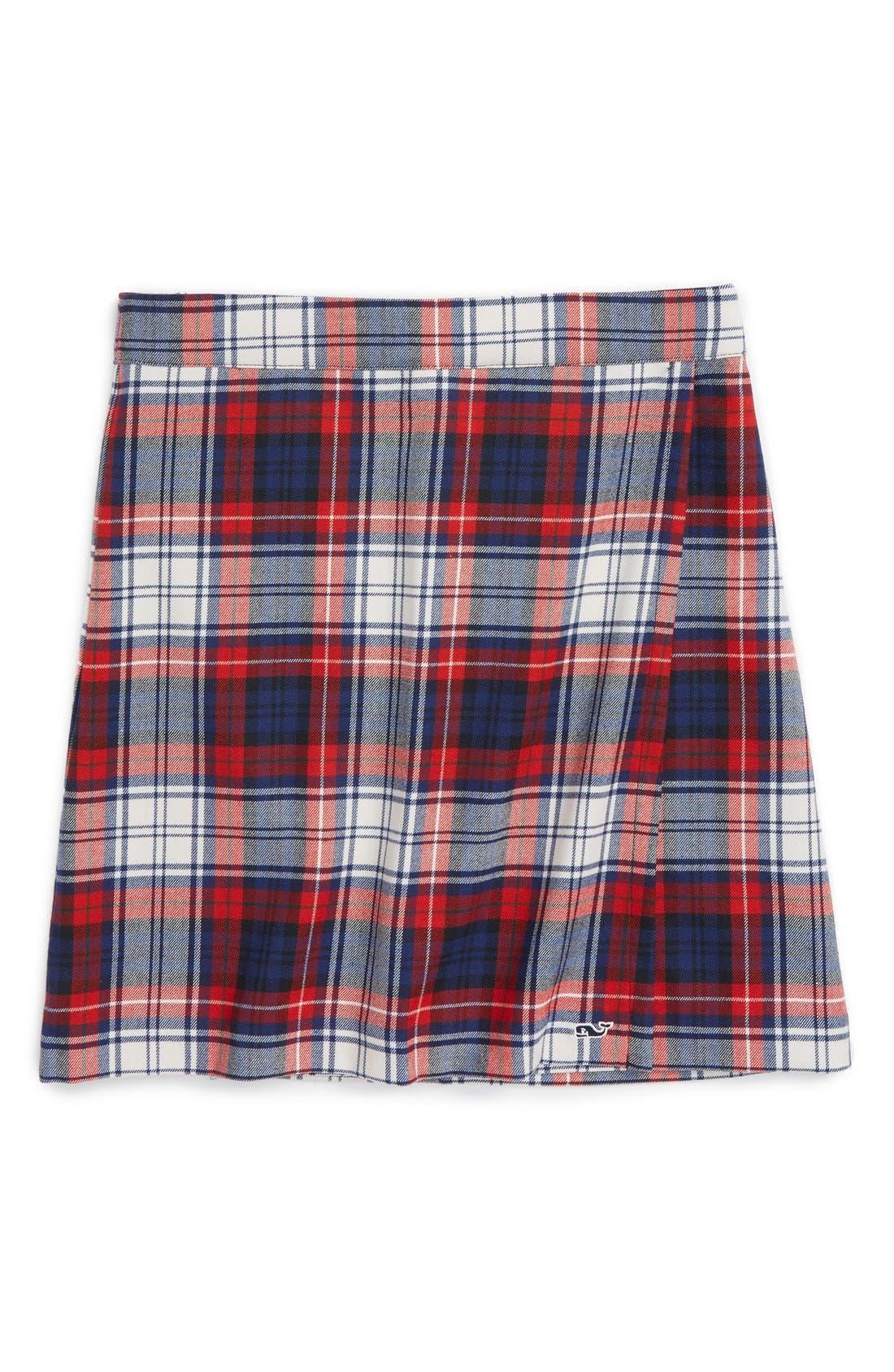 Wool Plaid Skirt, Main, color, 476