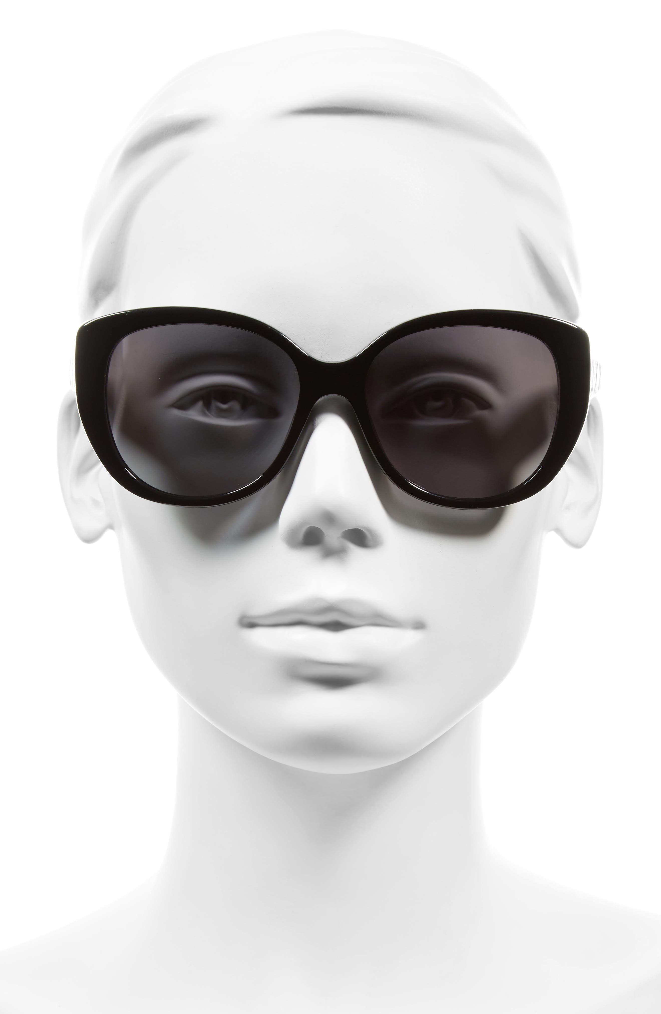 Lady 55mm Cat Eye Sunglasses,                             Alternate thumbnail 4, color,