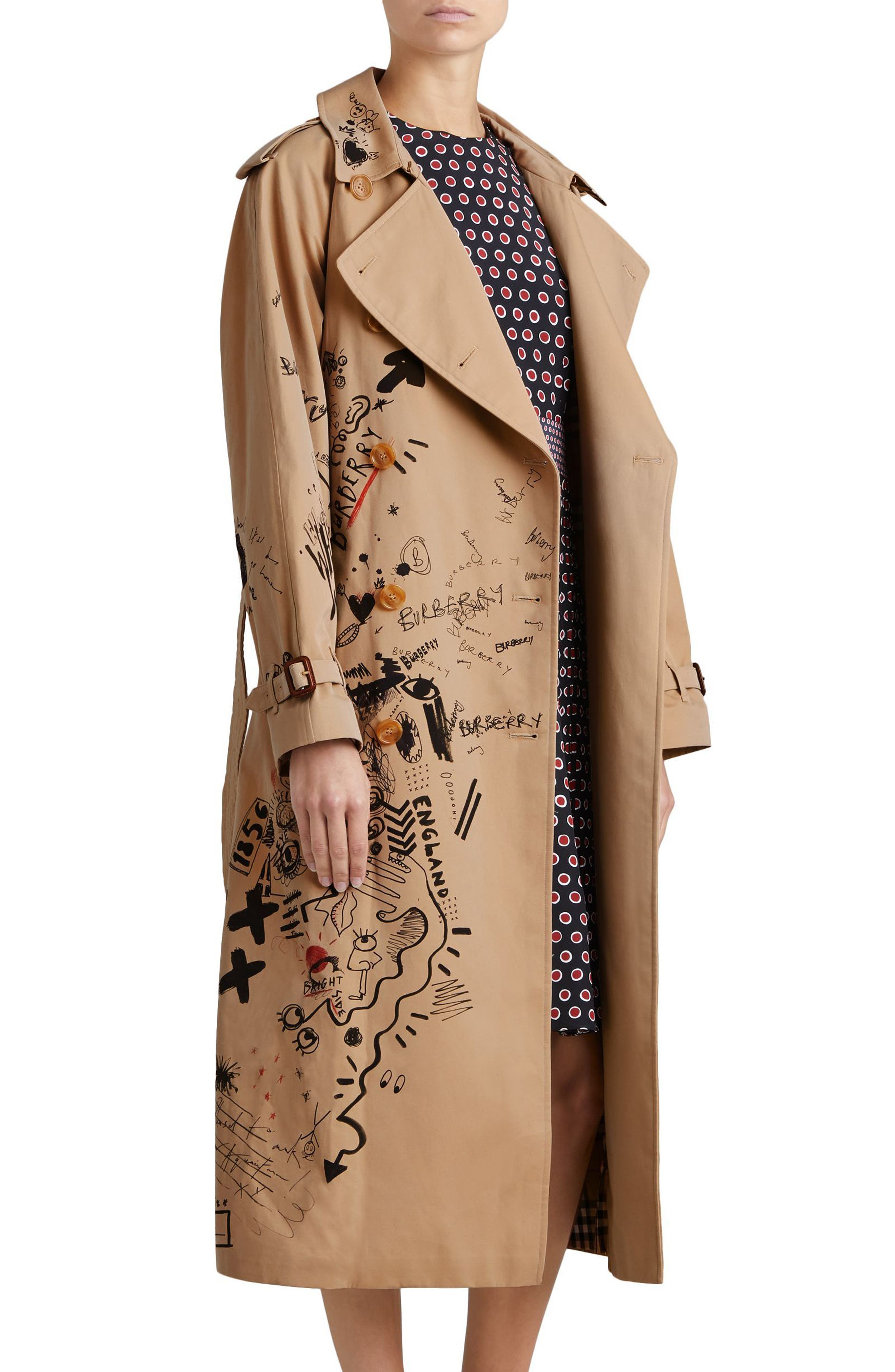 Eastheath Embellished Trench Coat,                             Alternate thumbnail 3, color,                             205