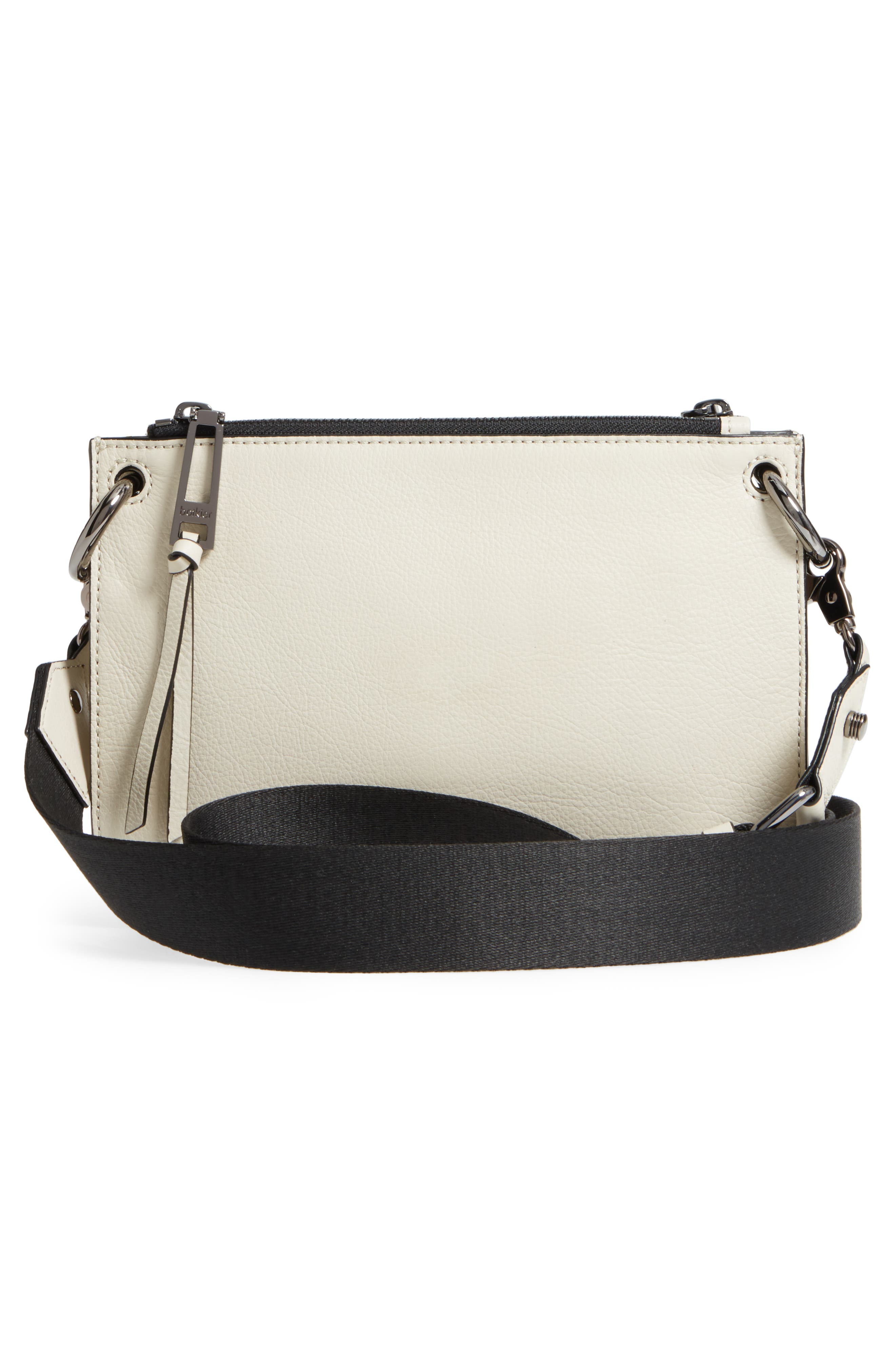 Bleeker Leather Double Shoulder Bag,                             Alternate thumbnail 18, color,