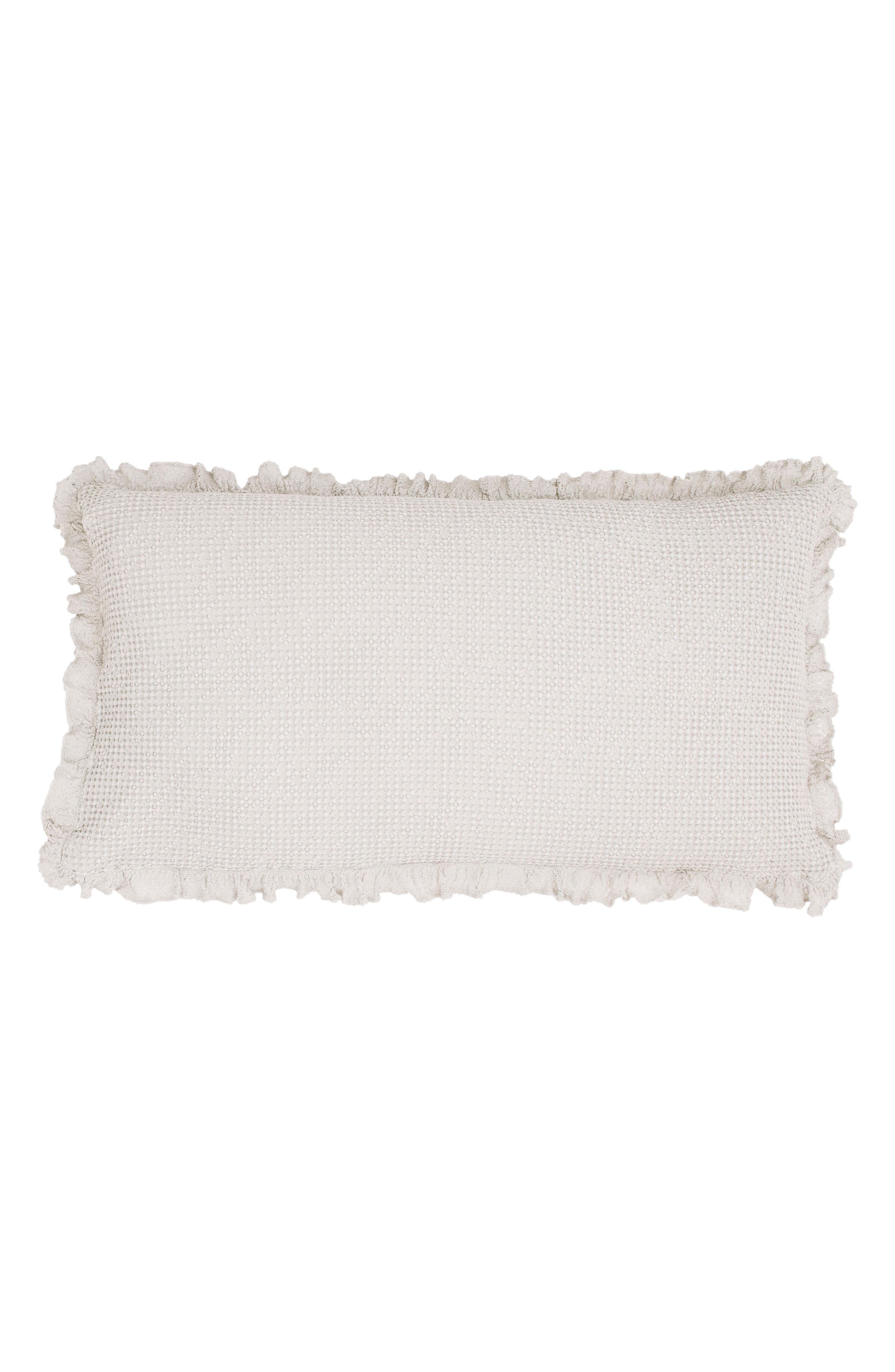 Lace Ruffle Accent Pillow,                         Main,                         color, 060