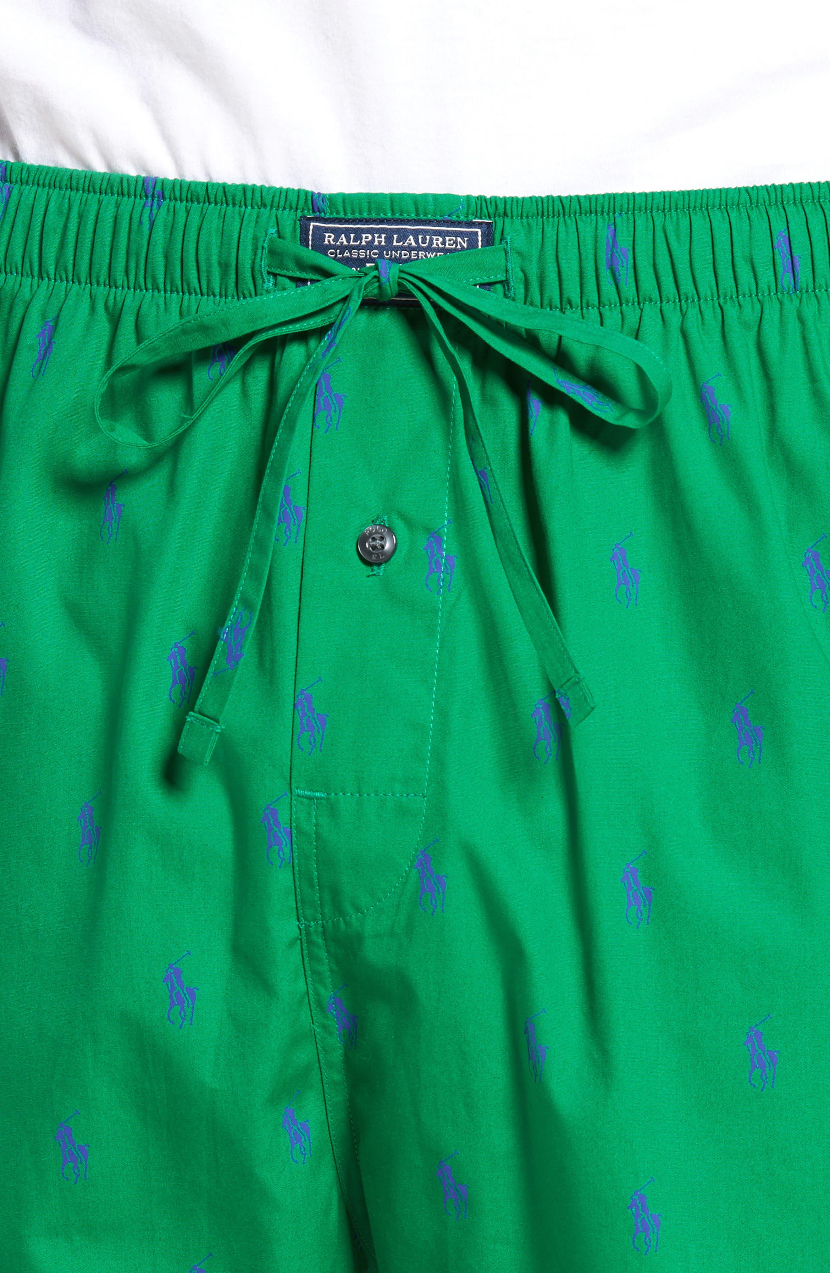 Polo Ralph Lauren Cotton Lounge Pants,                             Alternate thumbnail 17, color,