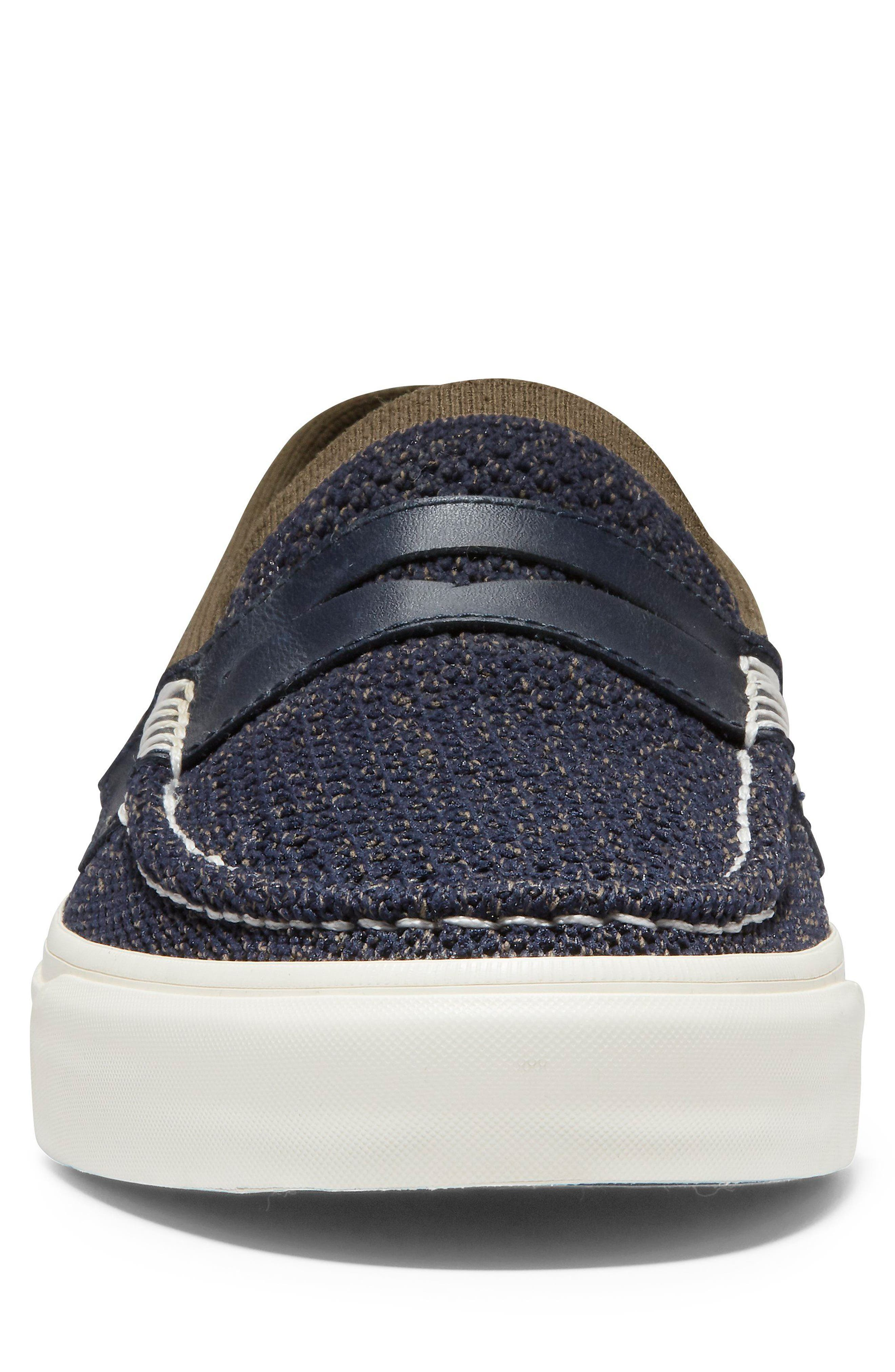 Pinch Stitch LX Stitchlite<sup>™</sup> Penny Loafer,                             Alternate thumbnail 4, color,                             NAVY/ MOREL