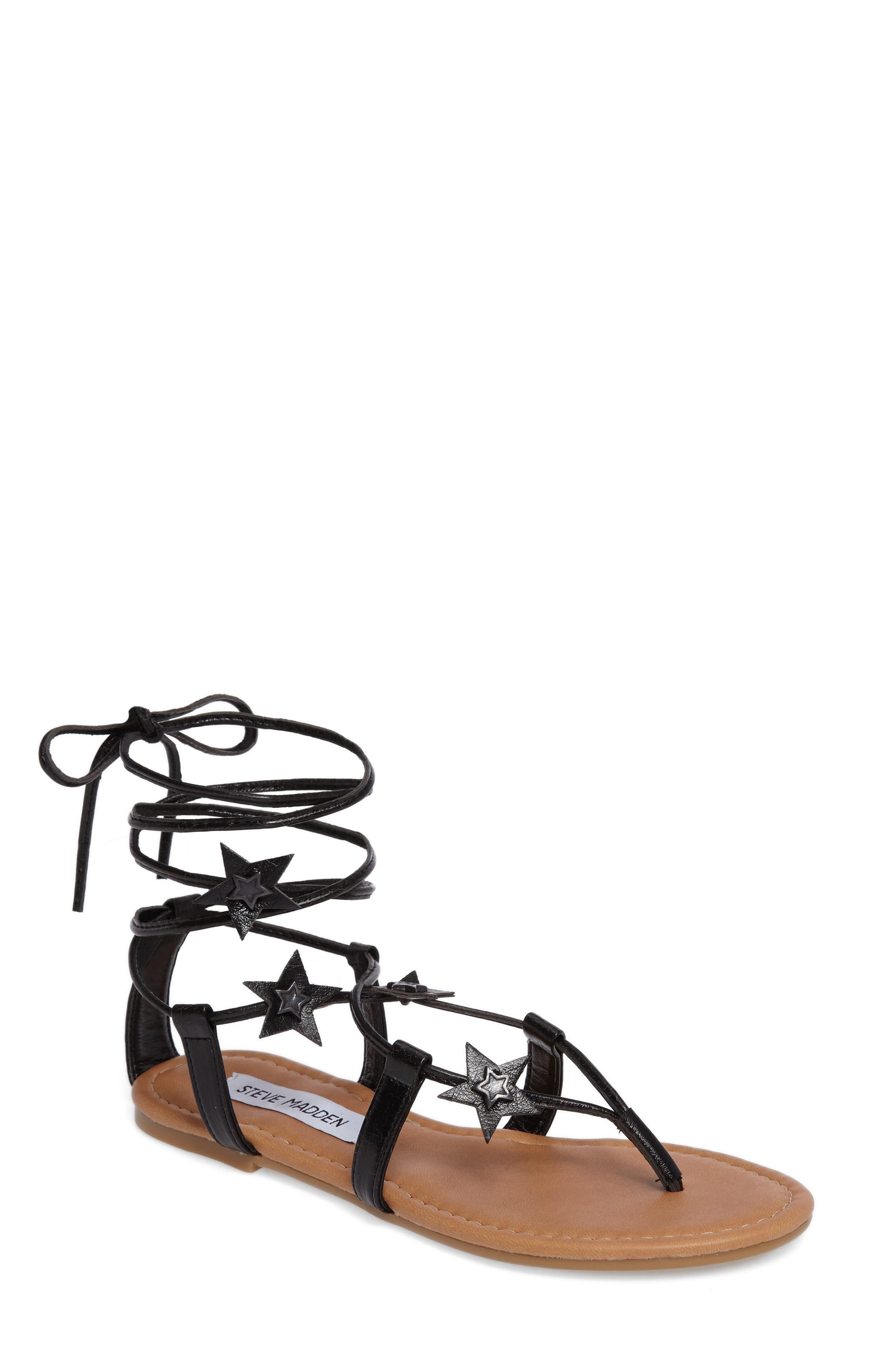Jupiter Lace Up Sandal,                         Main,                         color, 001