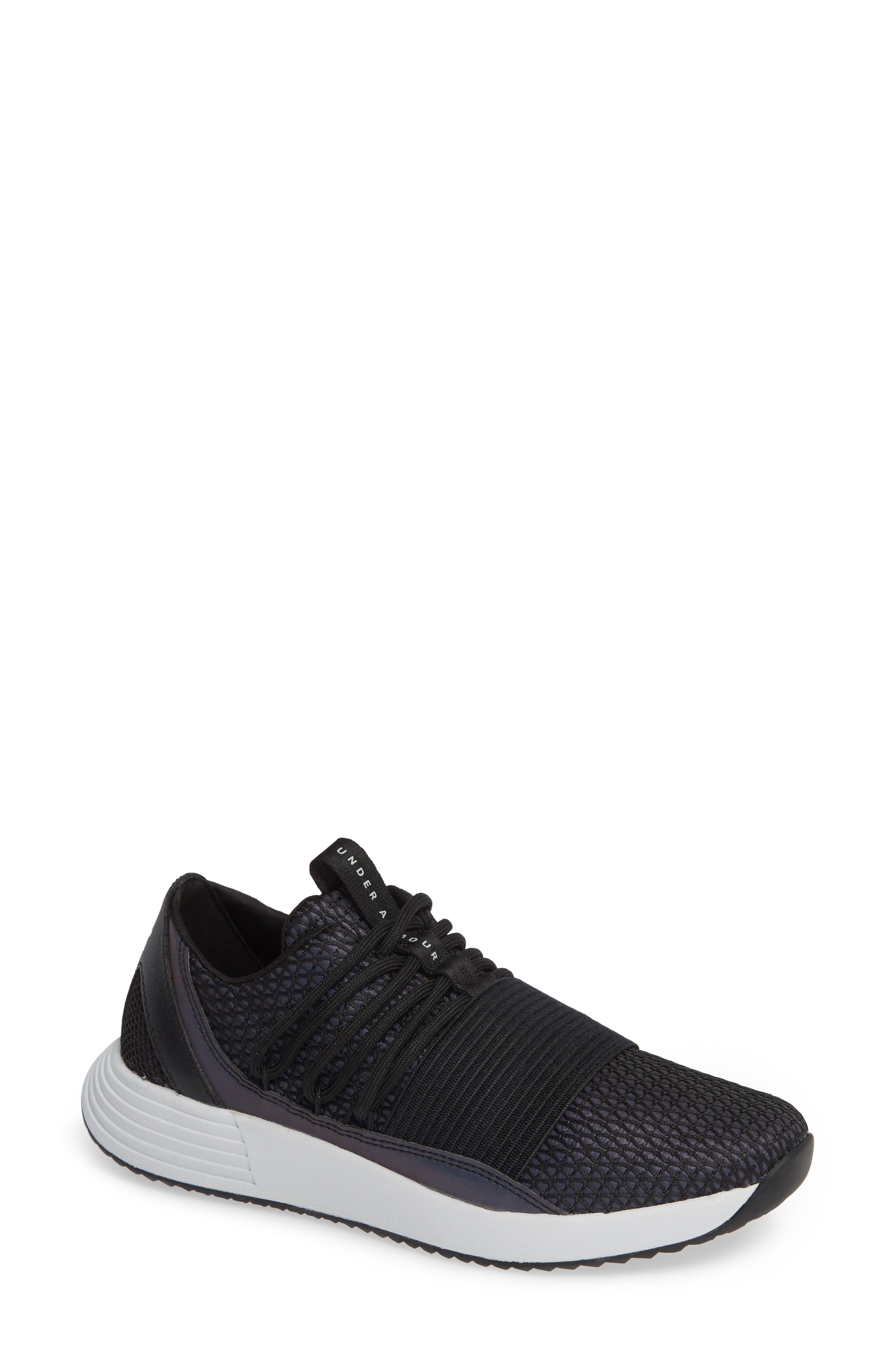 Breathe Reflective Low Top Sneaker,                         Main,                         color, BLACK/ BLACK/ BLACK