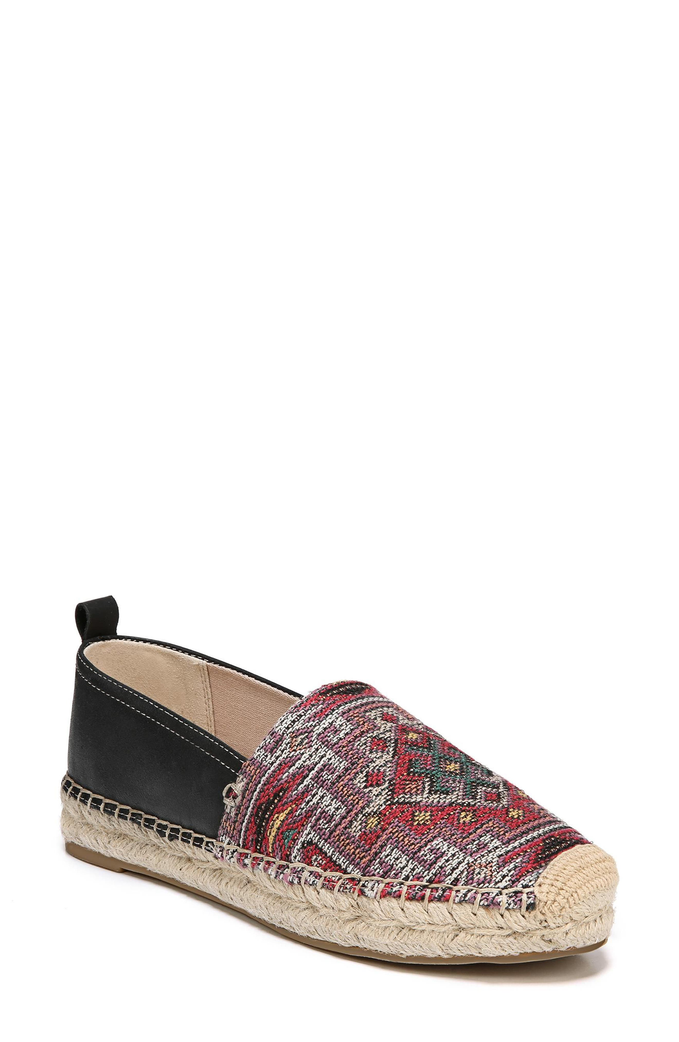 Khloe Espadrille Flat,                             Main thumbnail 1, color,                             RED PRINT LEATHER