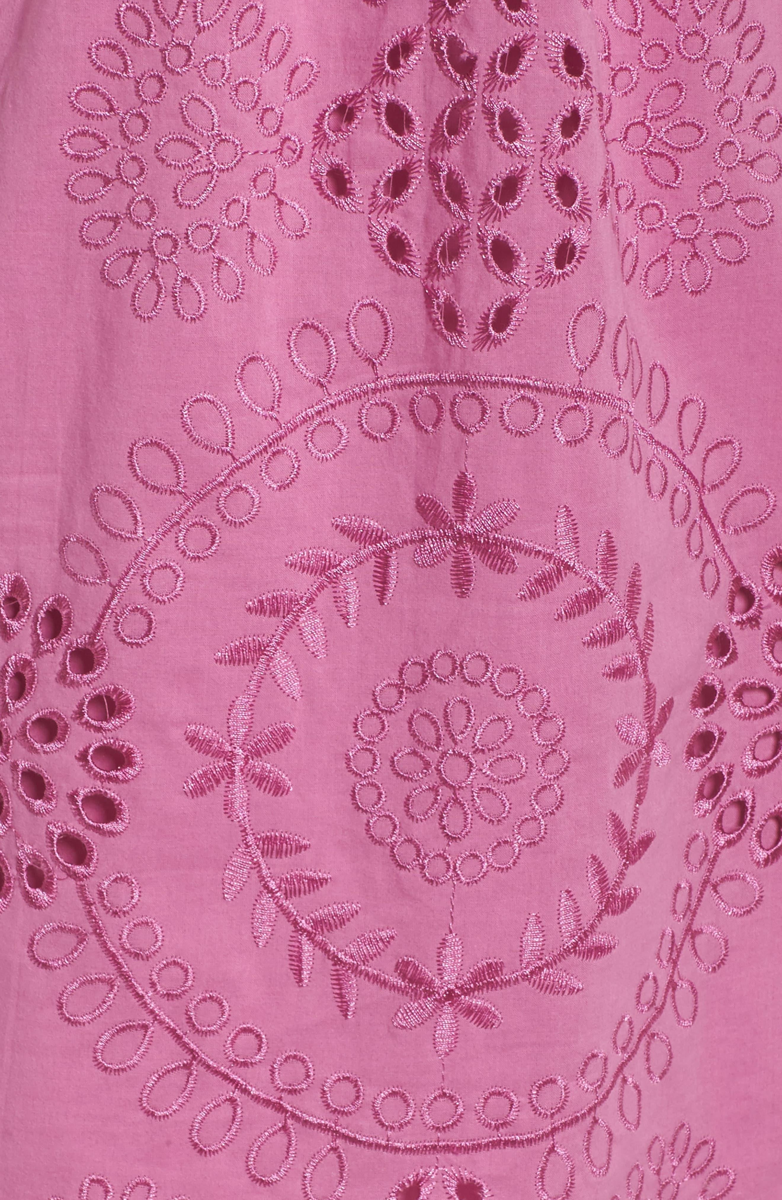Tonnie Cold Shoulder Eyelet Dress,                             Alternate thumbnail 5, color,                             513