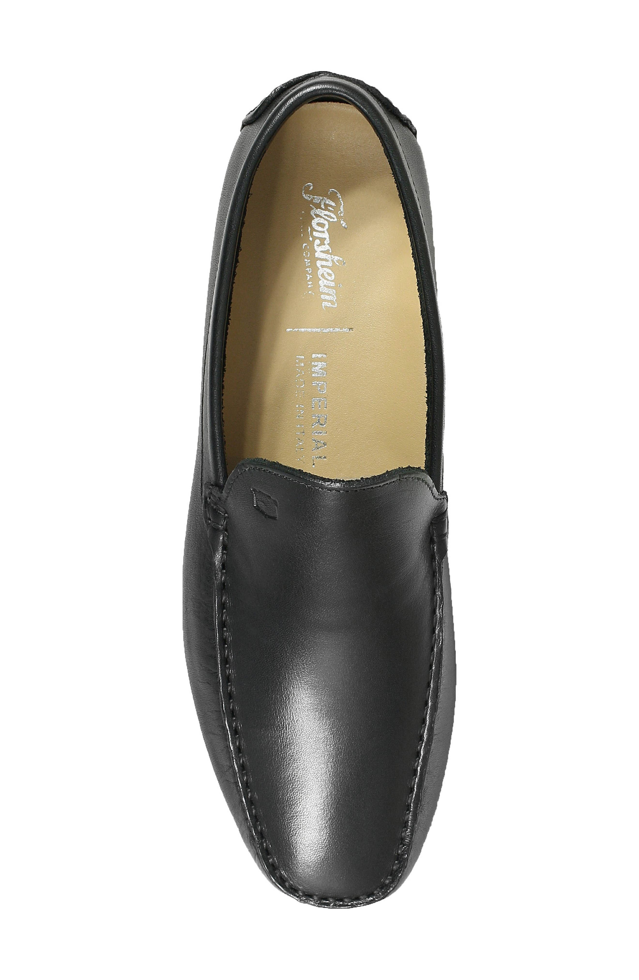 Navono Driving Moccasin,                             Alternate thumbnail 5, color,                             BLACK LEATHER