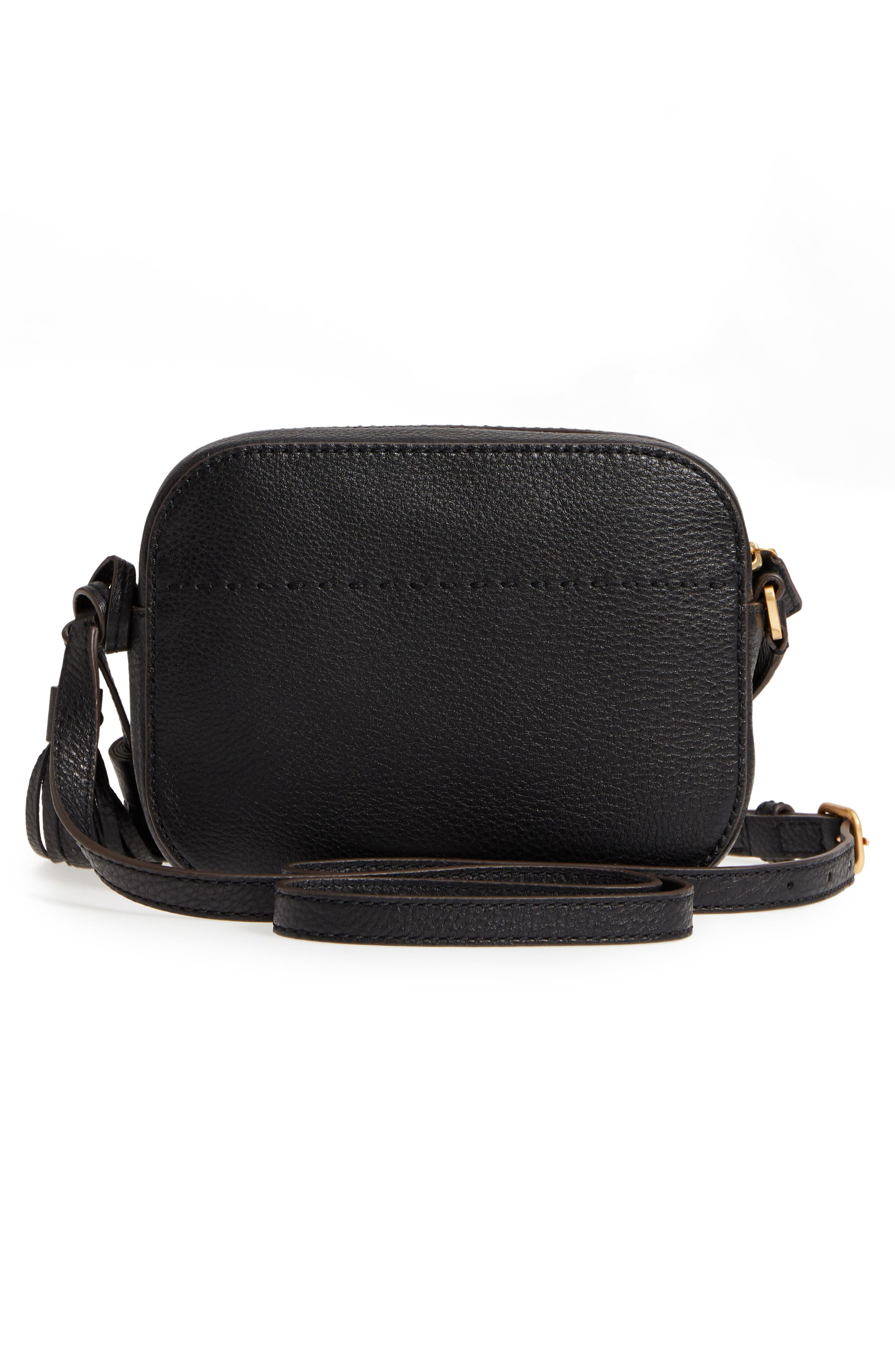 McGraw Leather Camera Bag,                             Alternate thumbnail 3, color,                             001