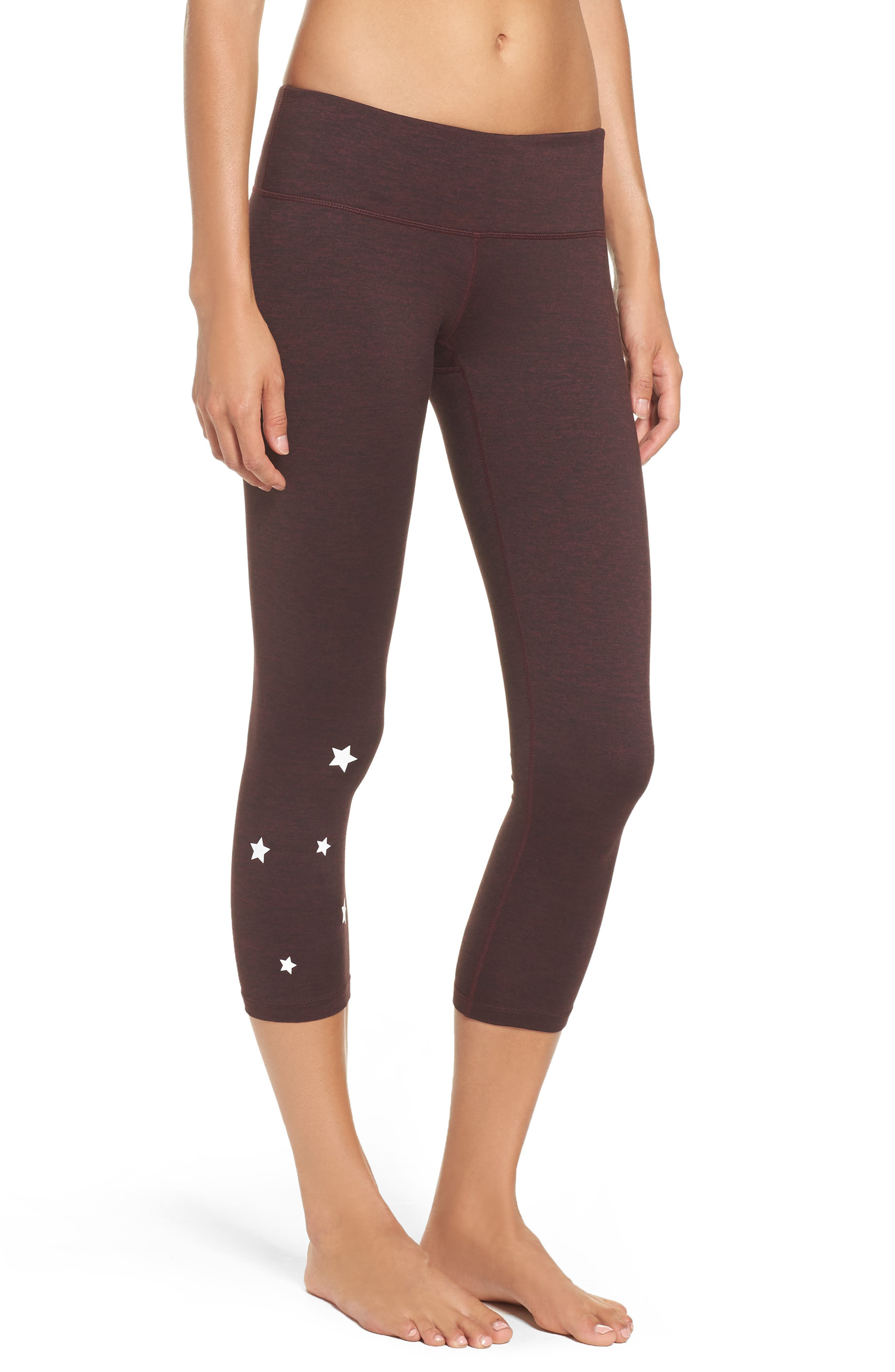 Stars Power Crop Leggings,                             Alternate thumbnail 3, color,                             602