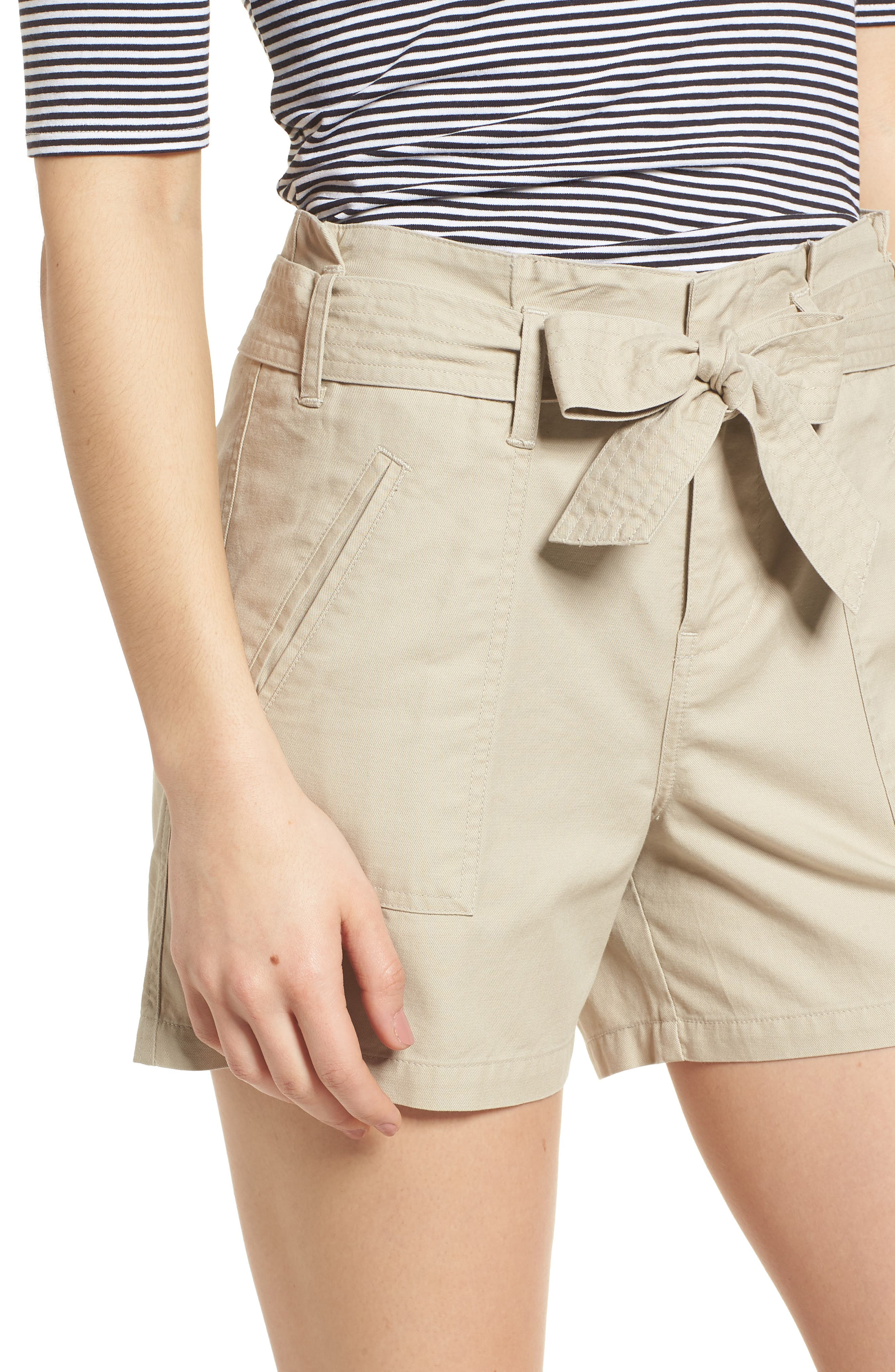 Belted Twill Shorts,                             Alternate thumbnail 13, color,