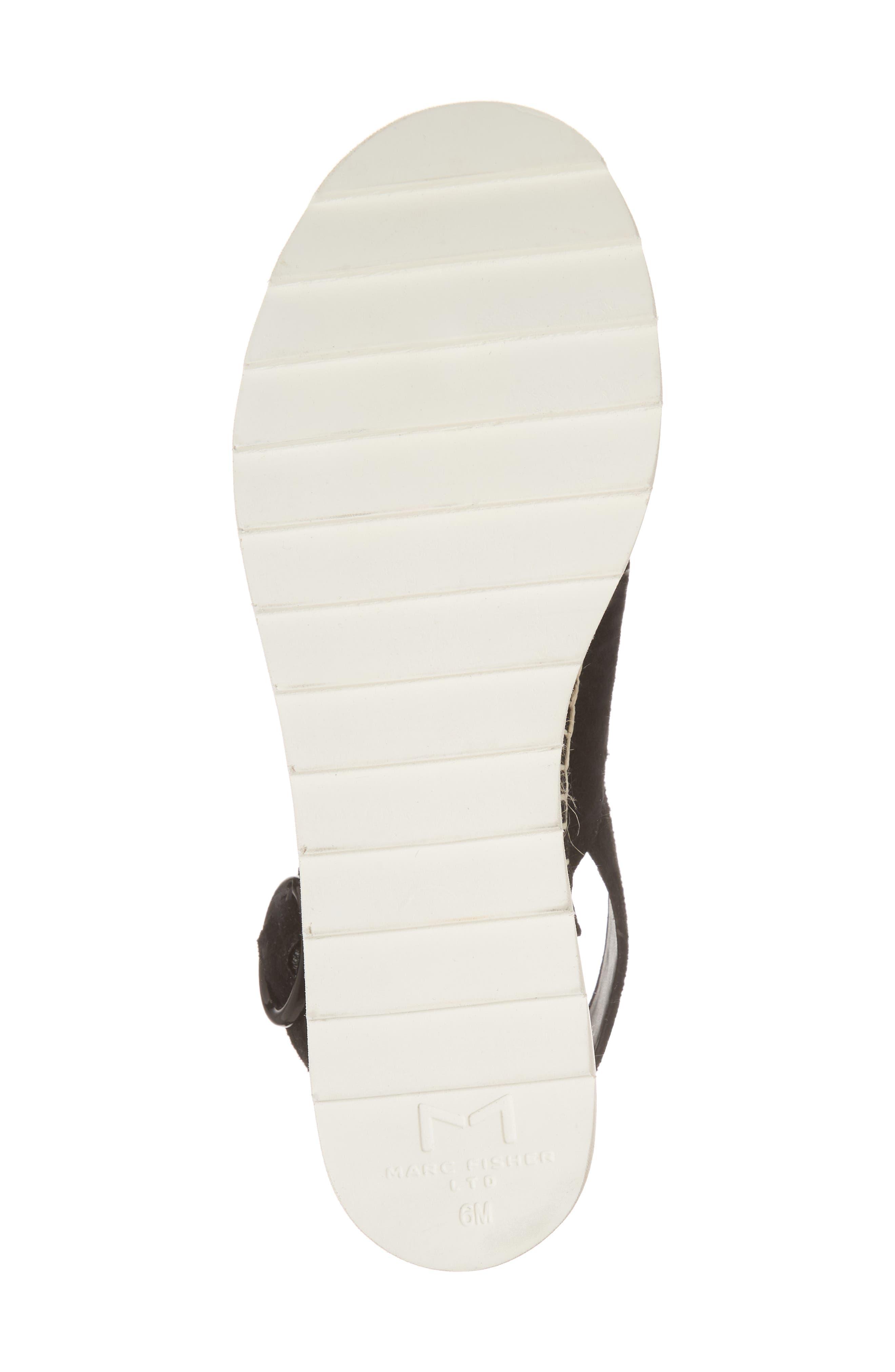 Glenna Platform Slingback Sandal,                             Alternate thumbnail 6, color,                             BLACK SUEDE