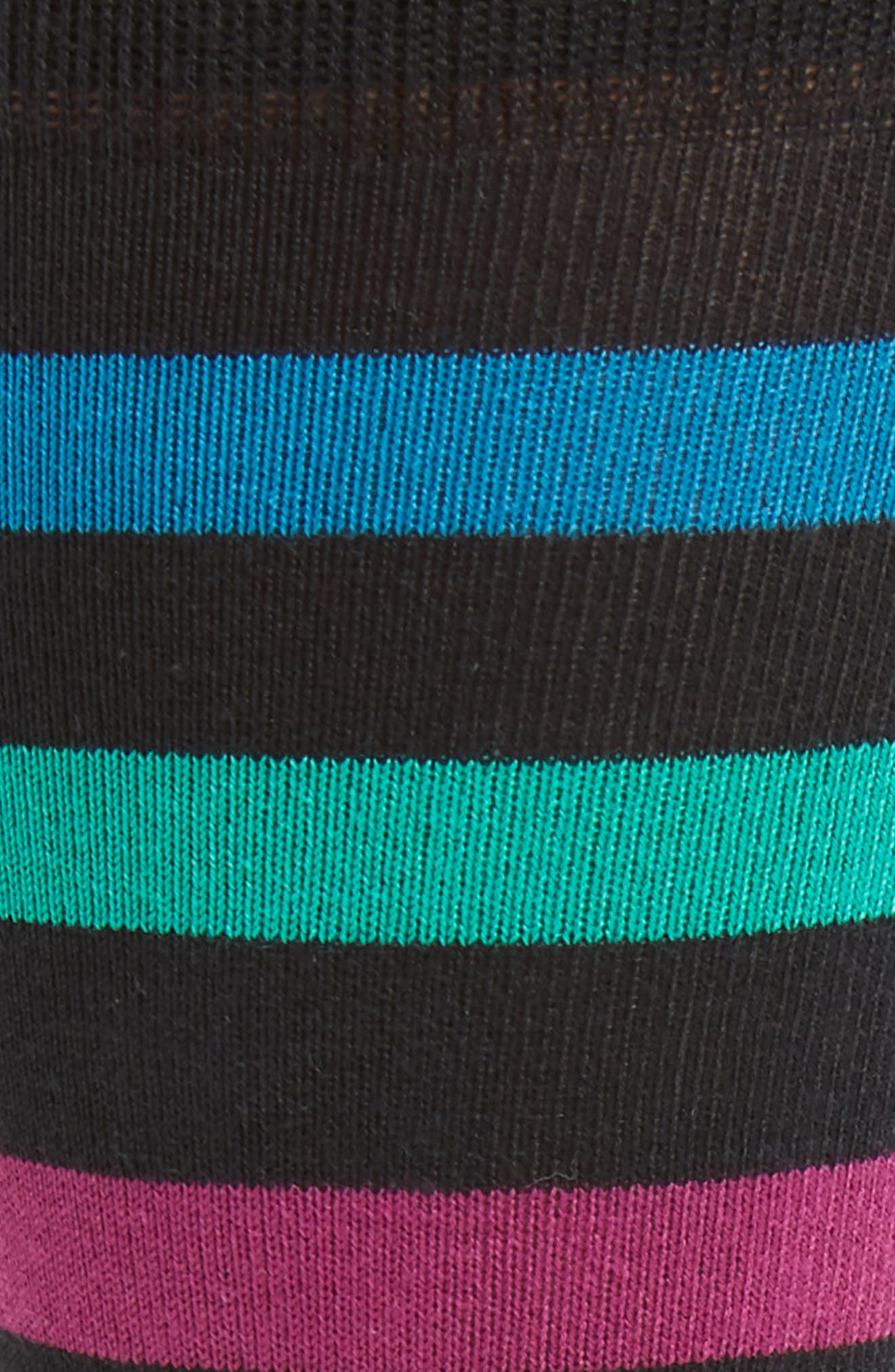 Look Stripe Socks,                             Alternate thumbnail 2, color,                             BLACK